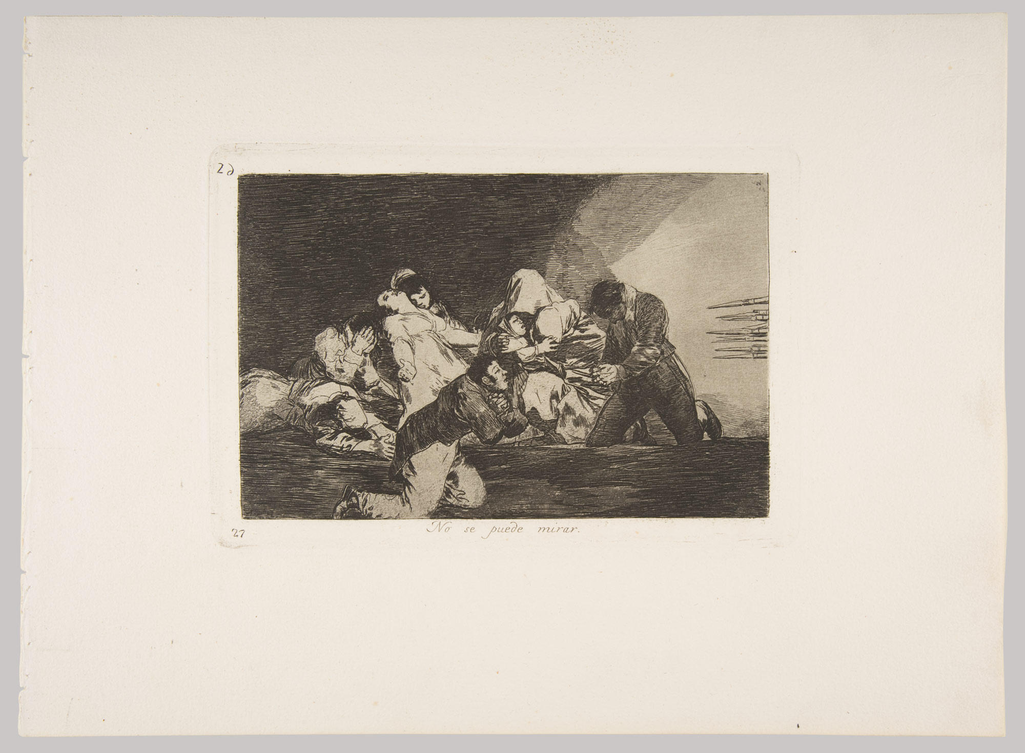 Plate 26 from The Disasters of War (Los Desastres de la Guerra): One cant look. (No se puede mirar.)