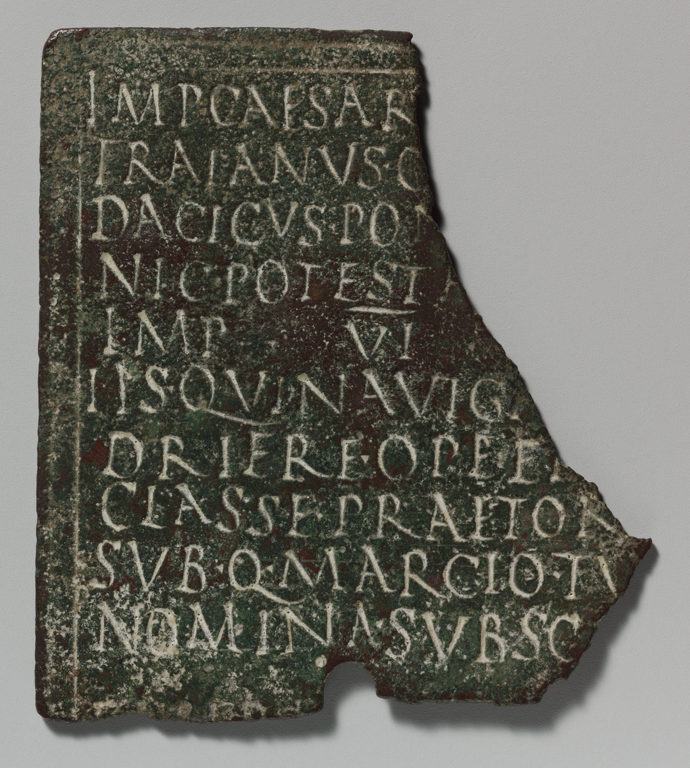 Fragment of a bronze military diploma