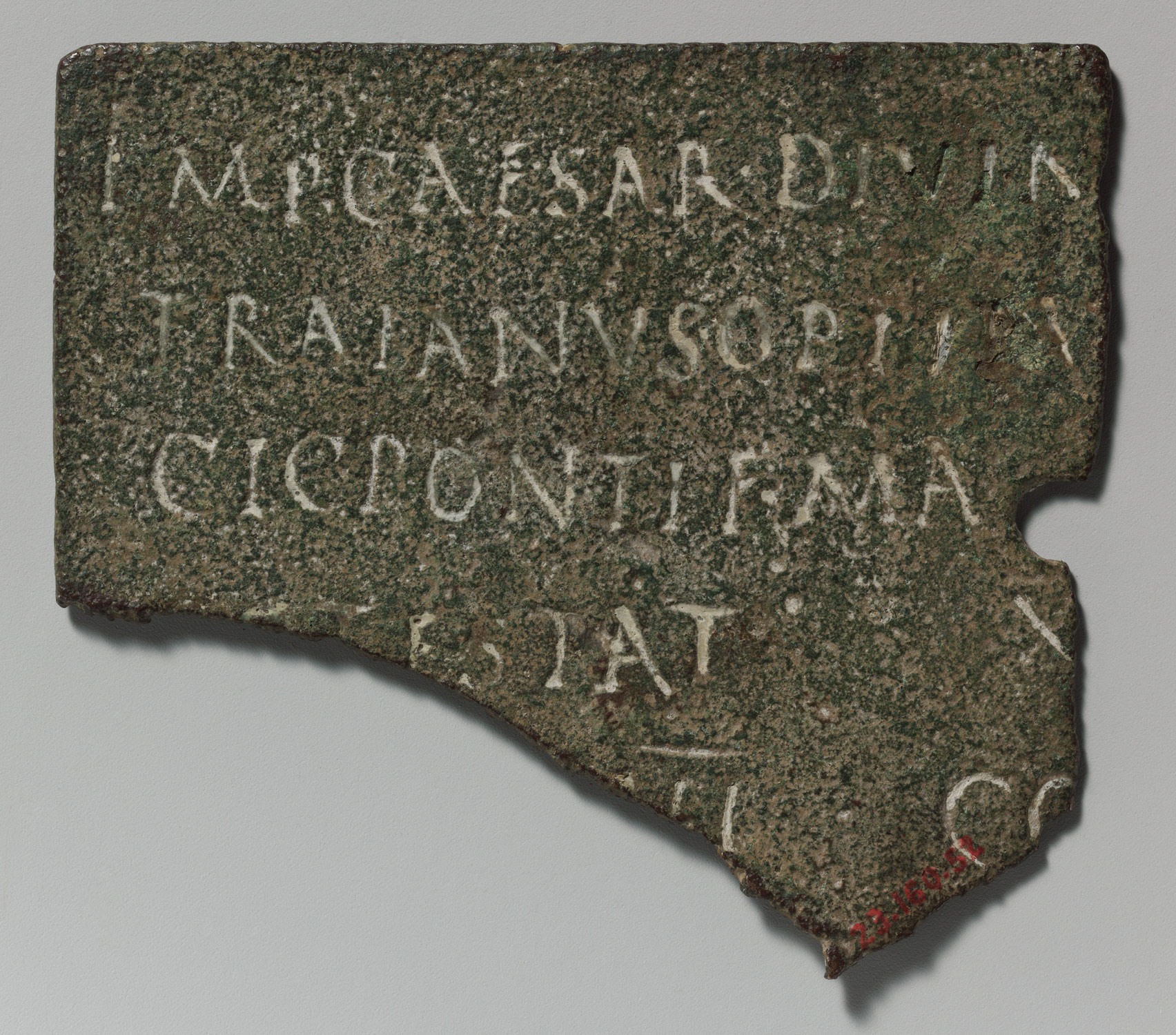 fragment of a bronze military diploma work of art heilbrunn  bronze military diploma fragment