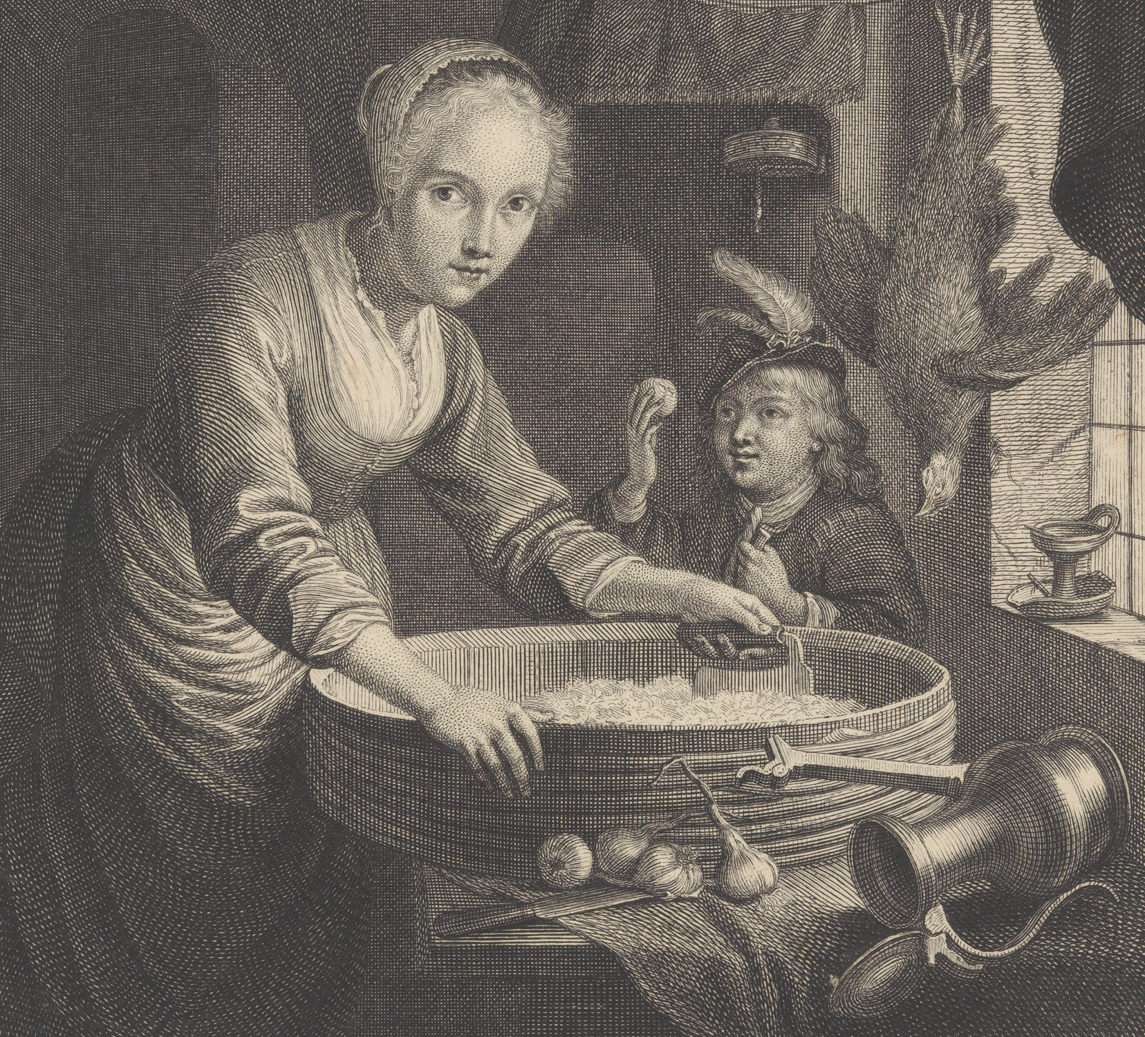 Young Woman Chopping Onions