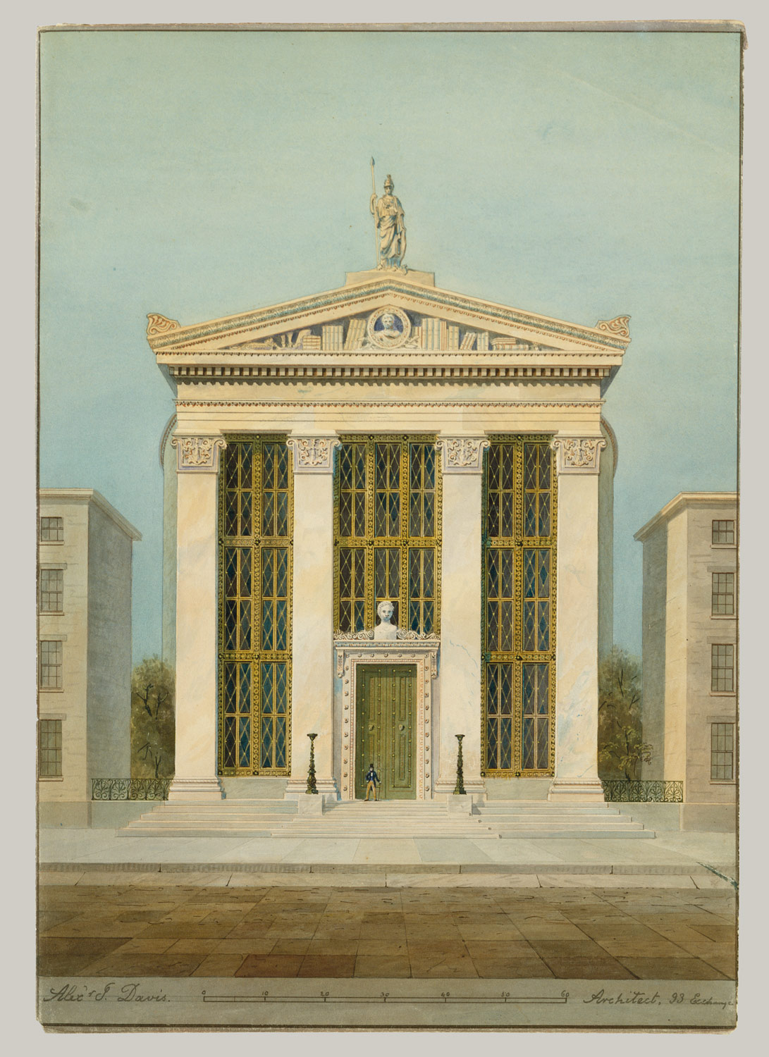 Study for the Astor Library, New York
