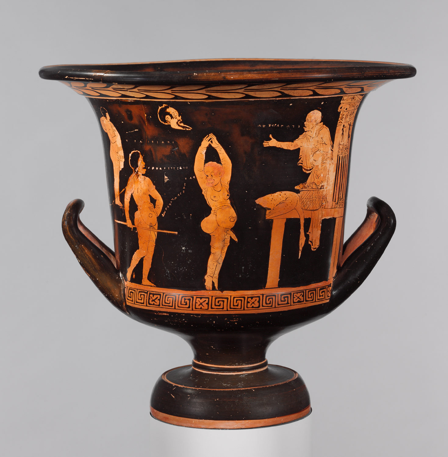 Terracotta calyx-krater (mixing bowl)