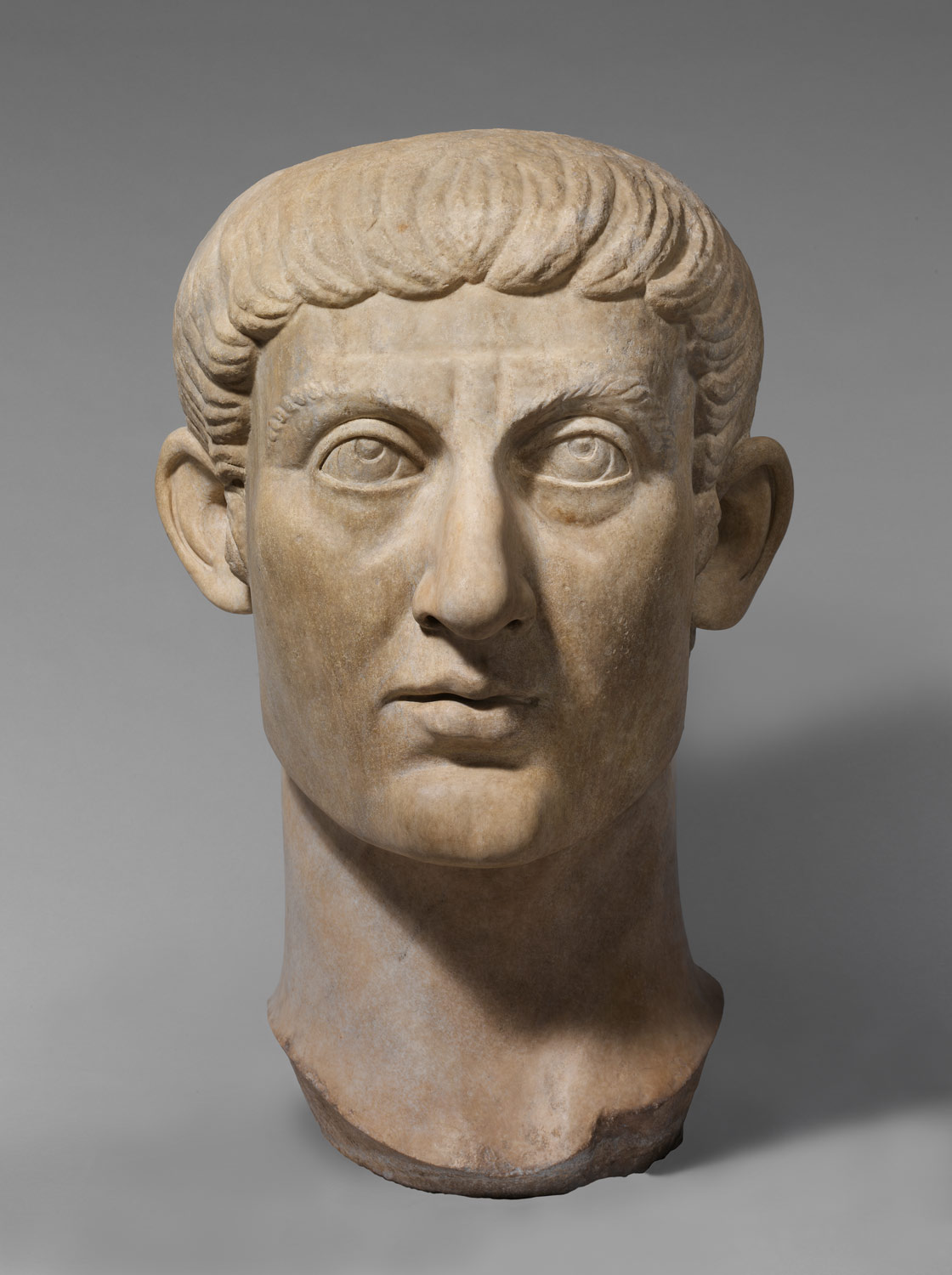 marble portrait head of the emperor constantine i work of art marble portrait head of the emperor constantine i