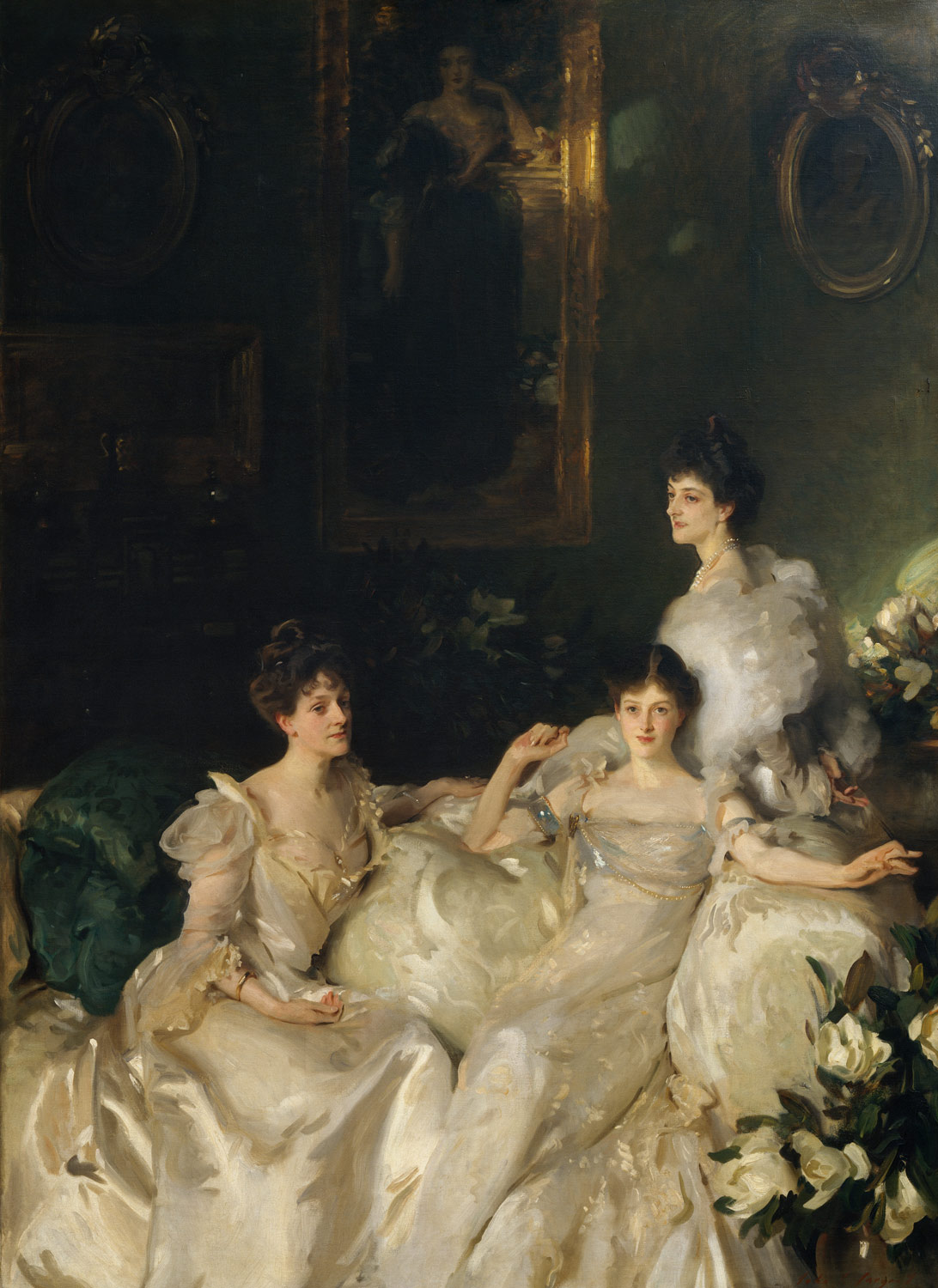 Wyndham Sisters painting by John Singer Sargent in 1899.