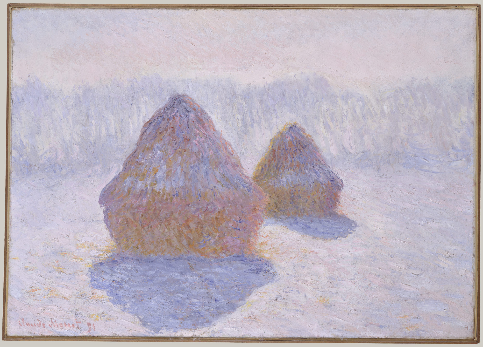 claude monet 1840 1926 essay heilbrunn timeline of art haystacks effect of snow and sun