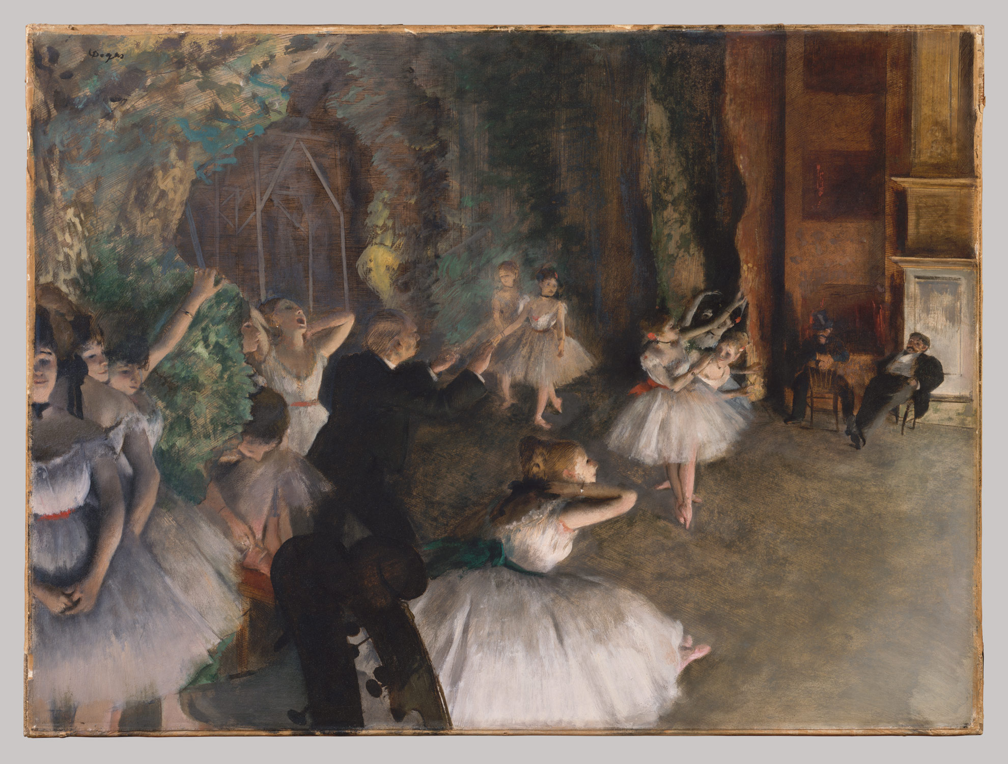 The Rehearsal of the Ballet Onstage