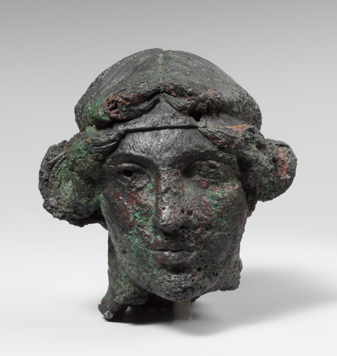 Bronze head of a youth