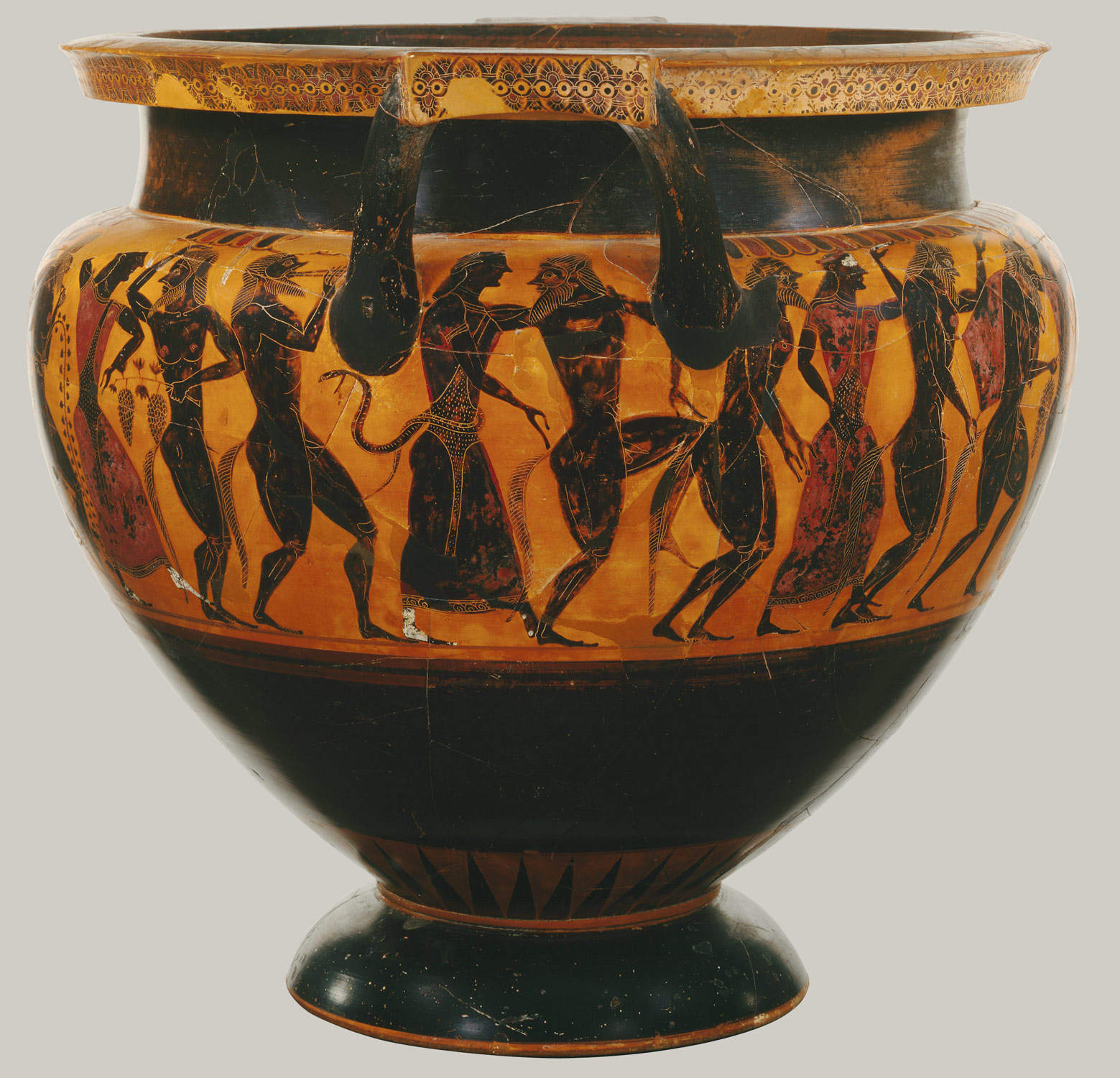 Terracotta Column Krater Bowl For Mixing Wine And Water