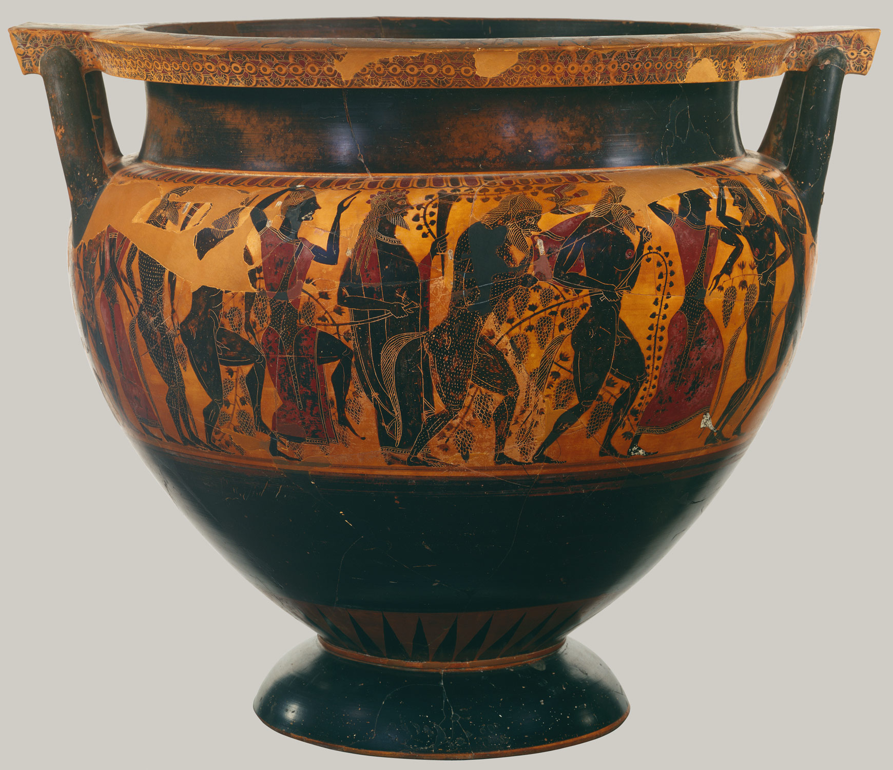 Terracotta Column Krater Bowl For Mixing Wine And Water Attributed To Lydos 31 11 11