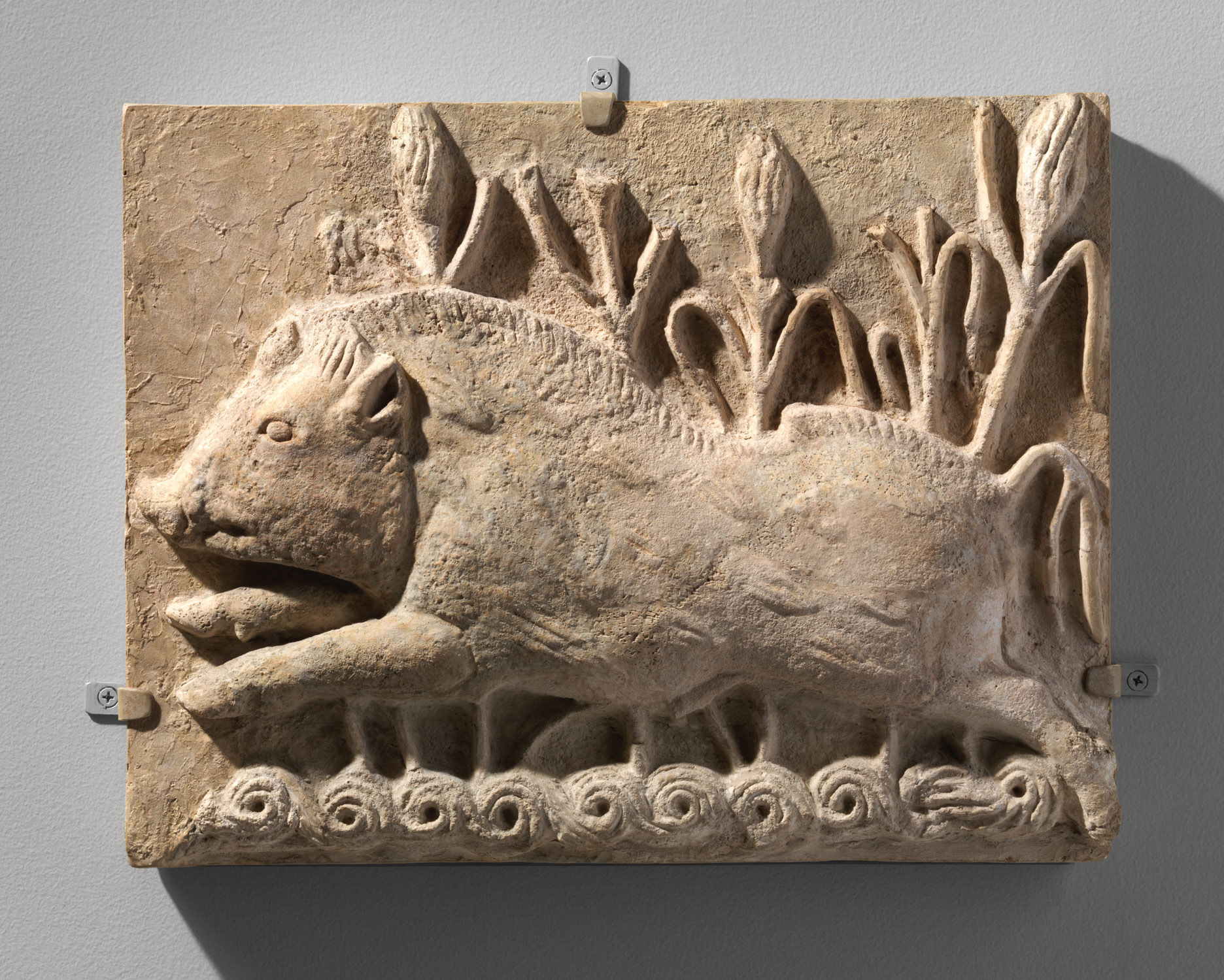 Wall panel with a charging boar