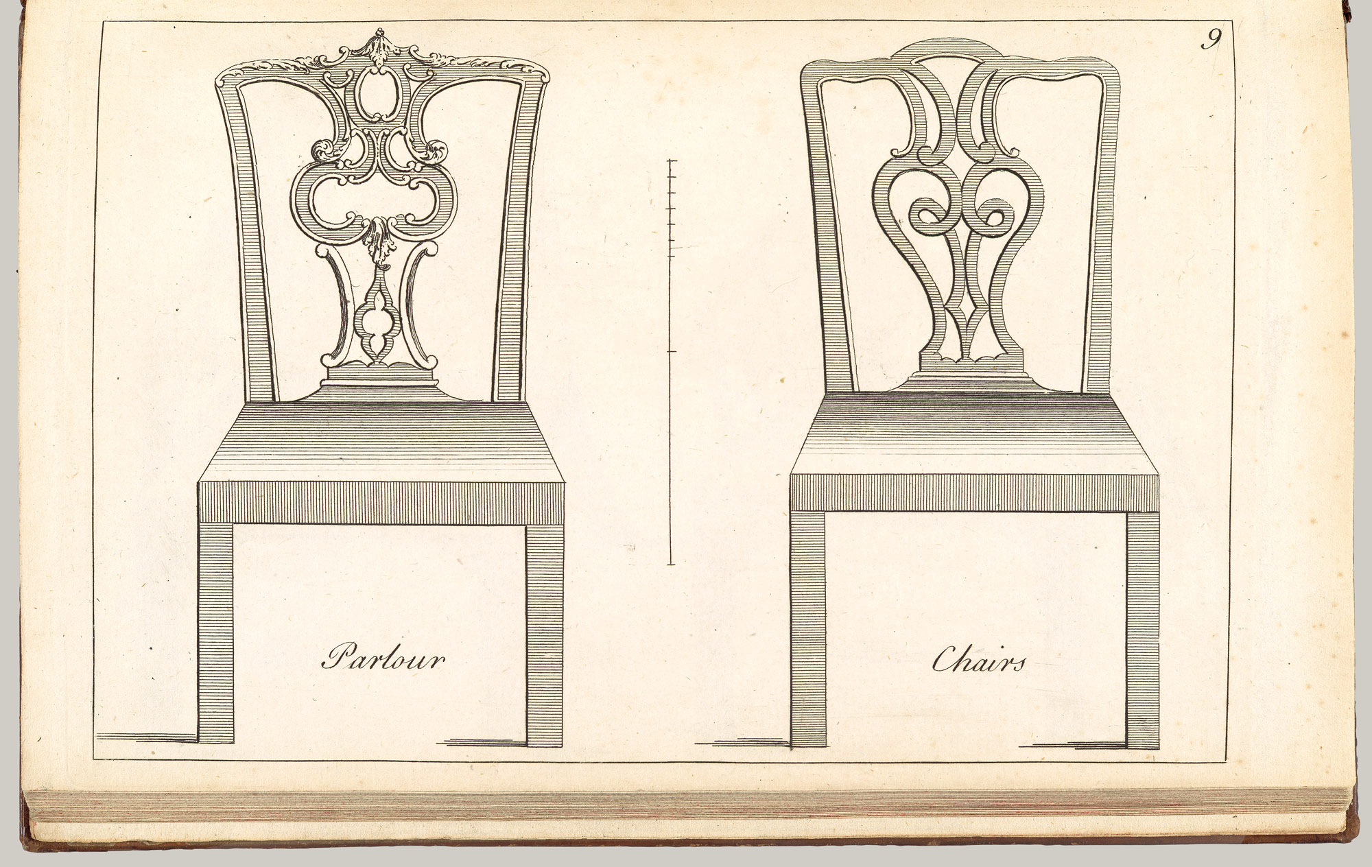Parlour Chair: Plate 9 of The Cabinet and Chair-Makers Real Friend and Companion