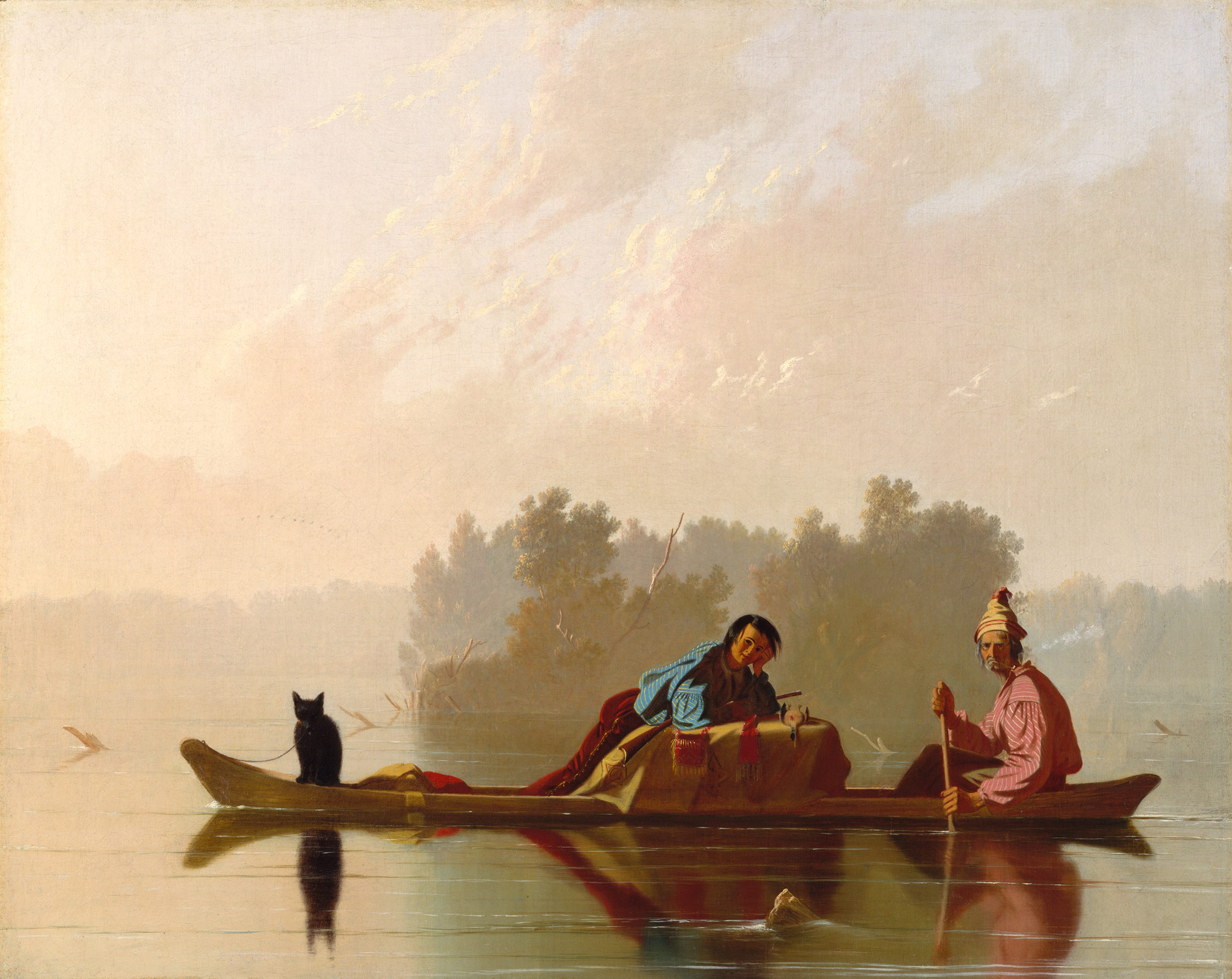 Fur Traders Descending the Missouri