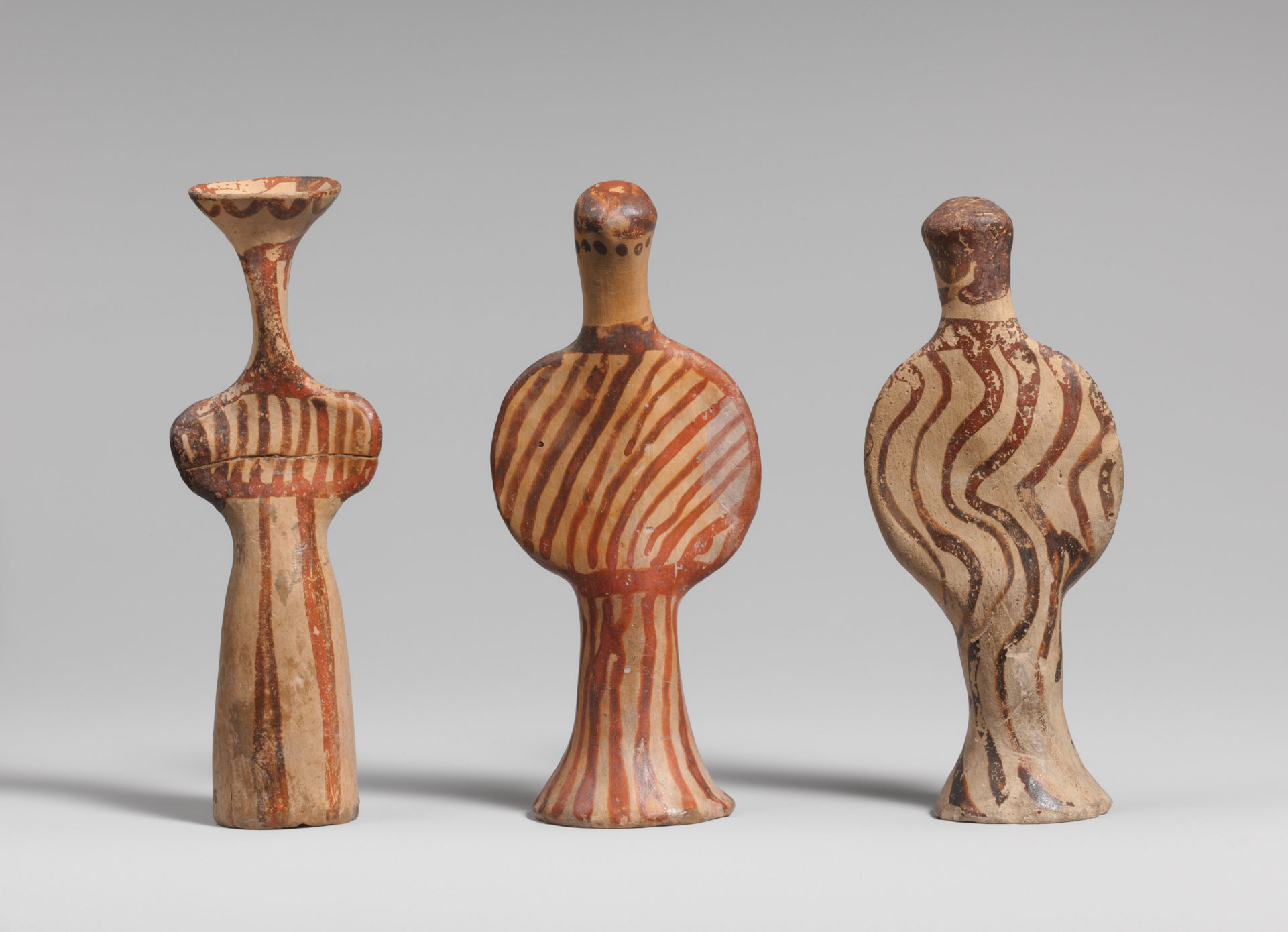 3 Terracotta female figures