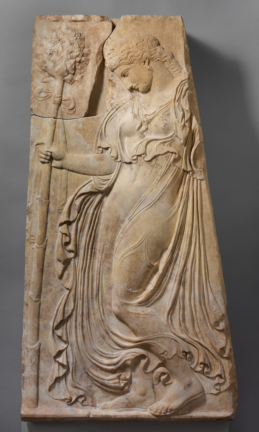 Relief of a dancing maenad