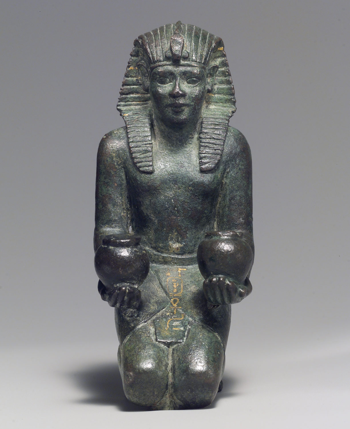 Kneeling statuette of King Amasis