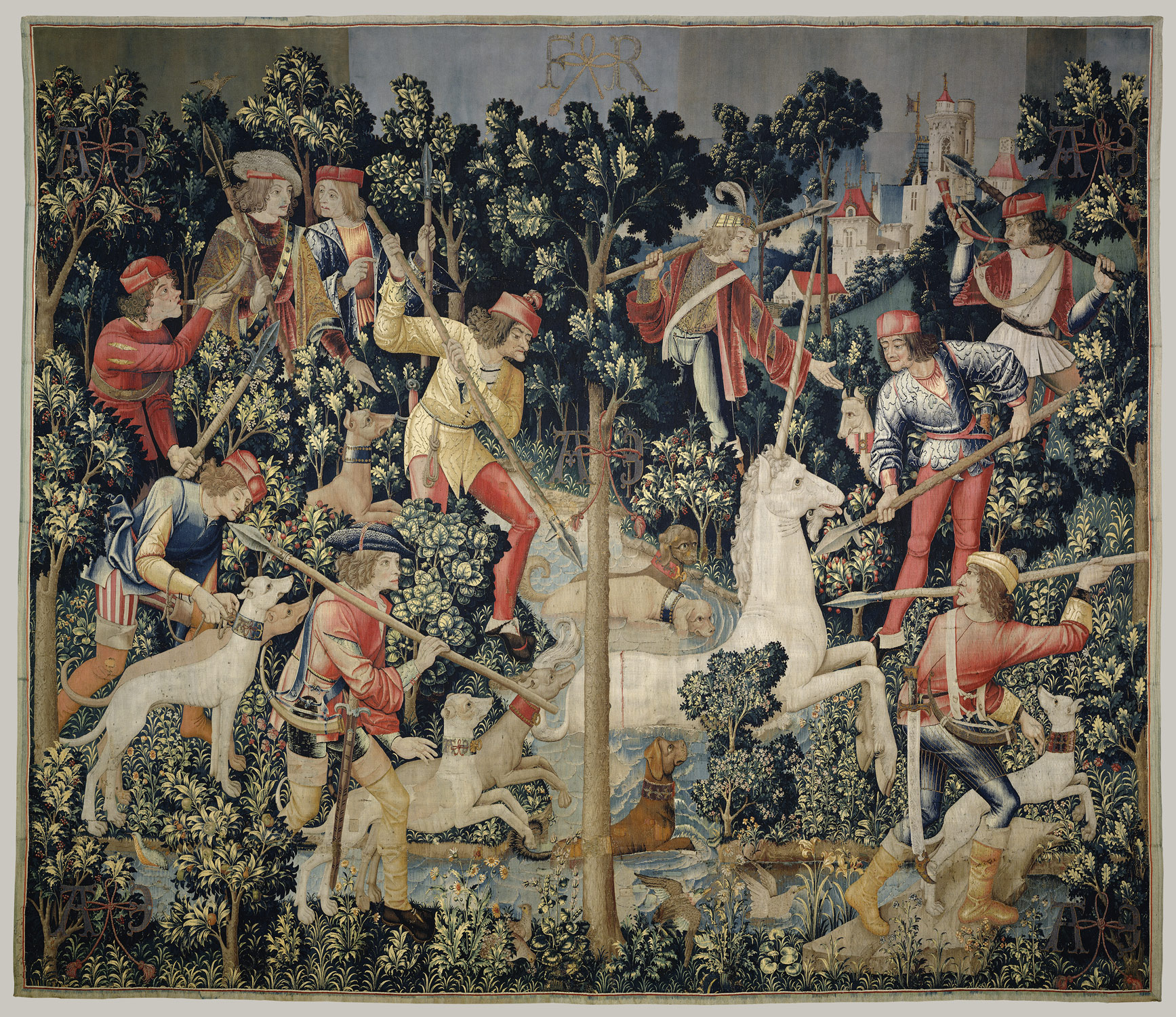 1722fbea34 ... The Unicorn is Attacked (from the Unicorn Tapestries) ...