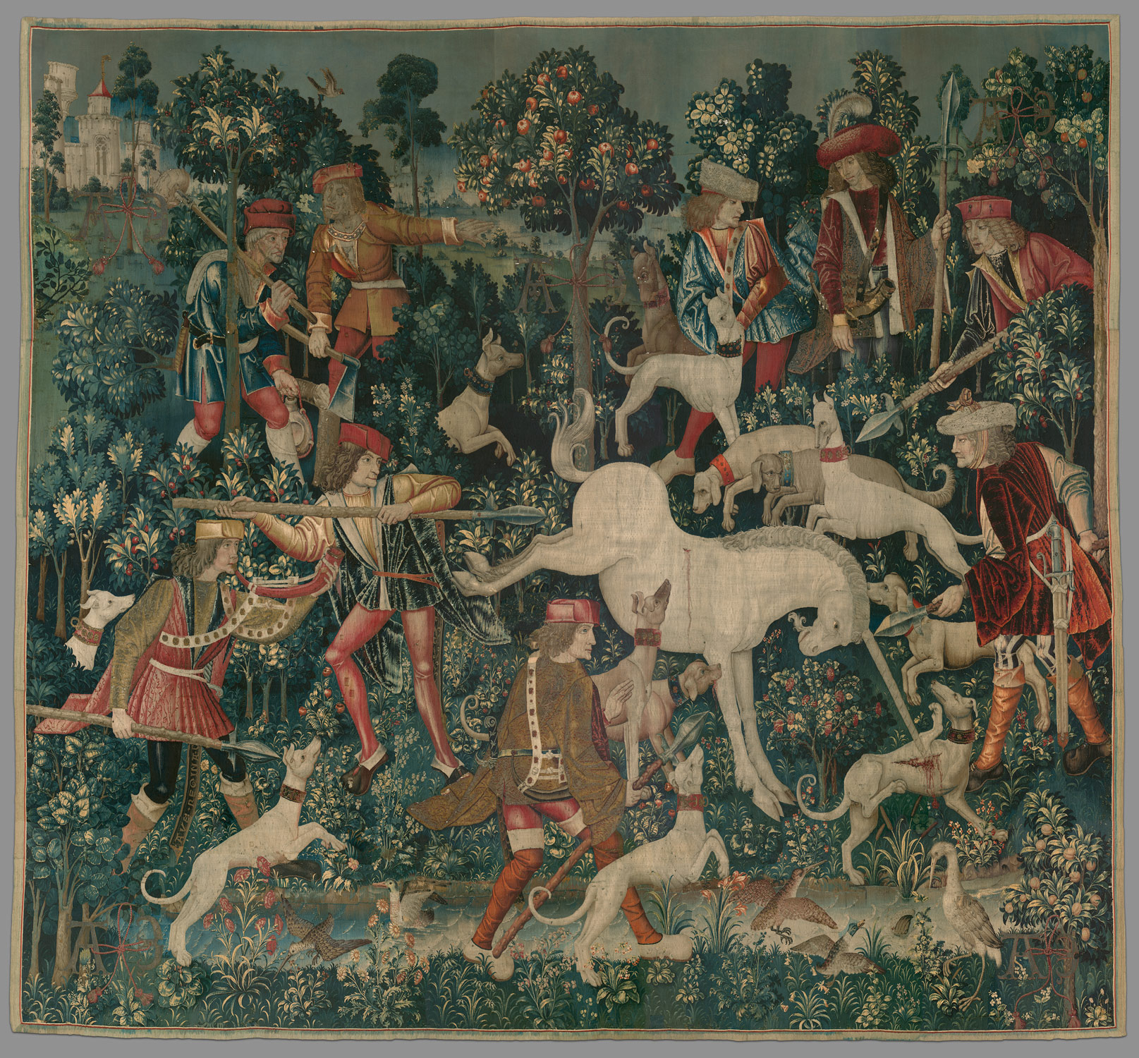 Animals in medieval art essay heilbrunn timeline of art the unicorn defends itself from the unicorn tapestries biocorpaavc Image collections