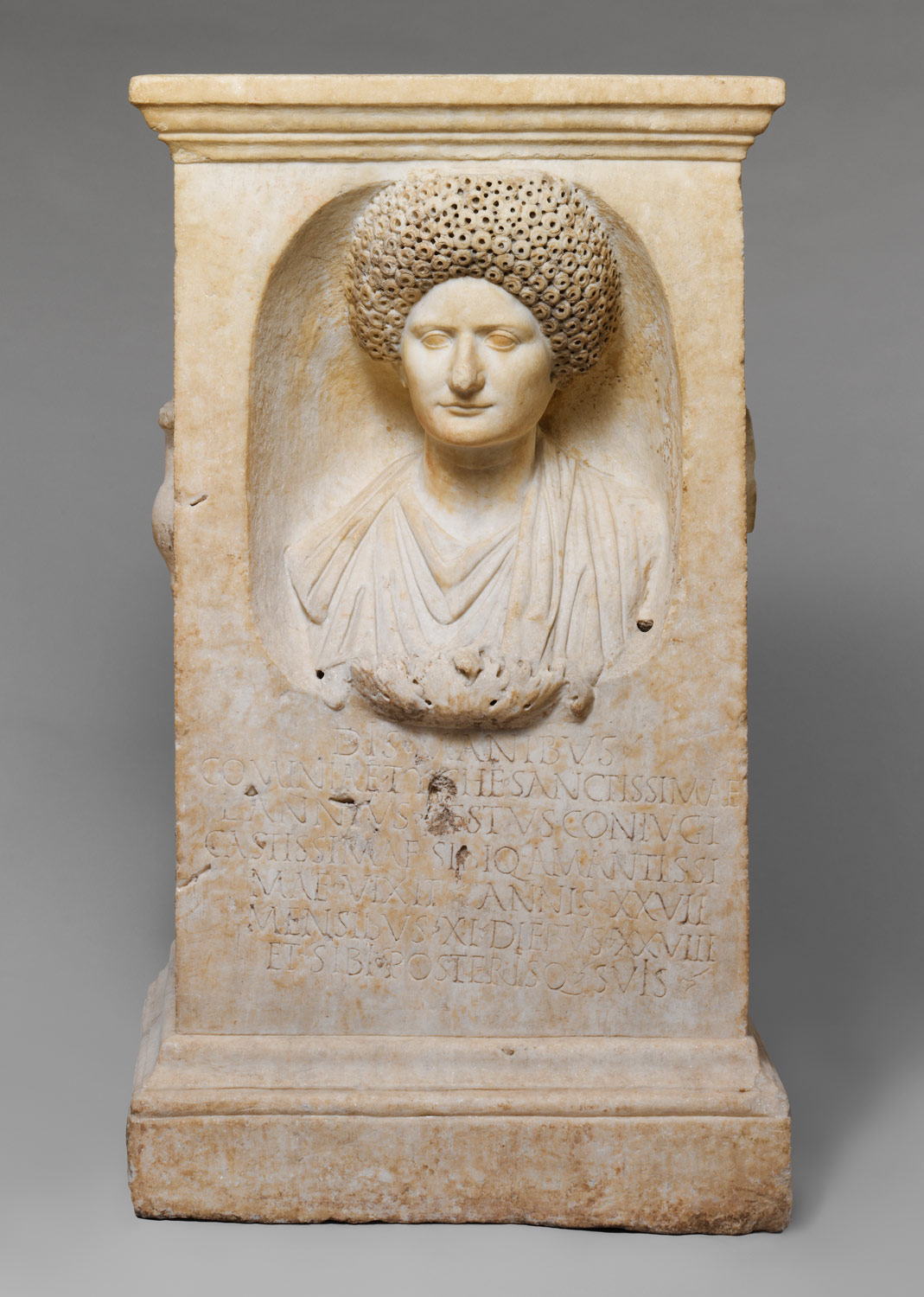 Marble funerary altar of Cominia Tyche