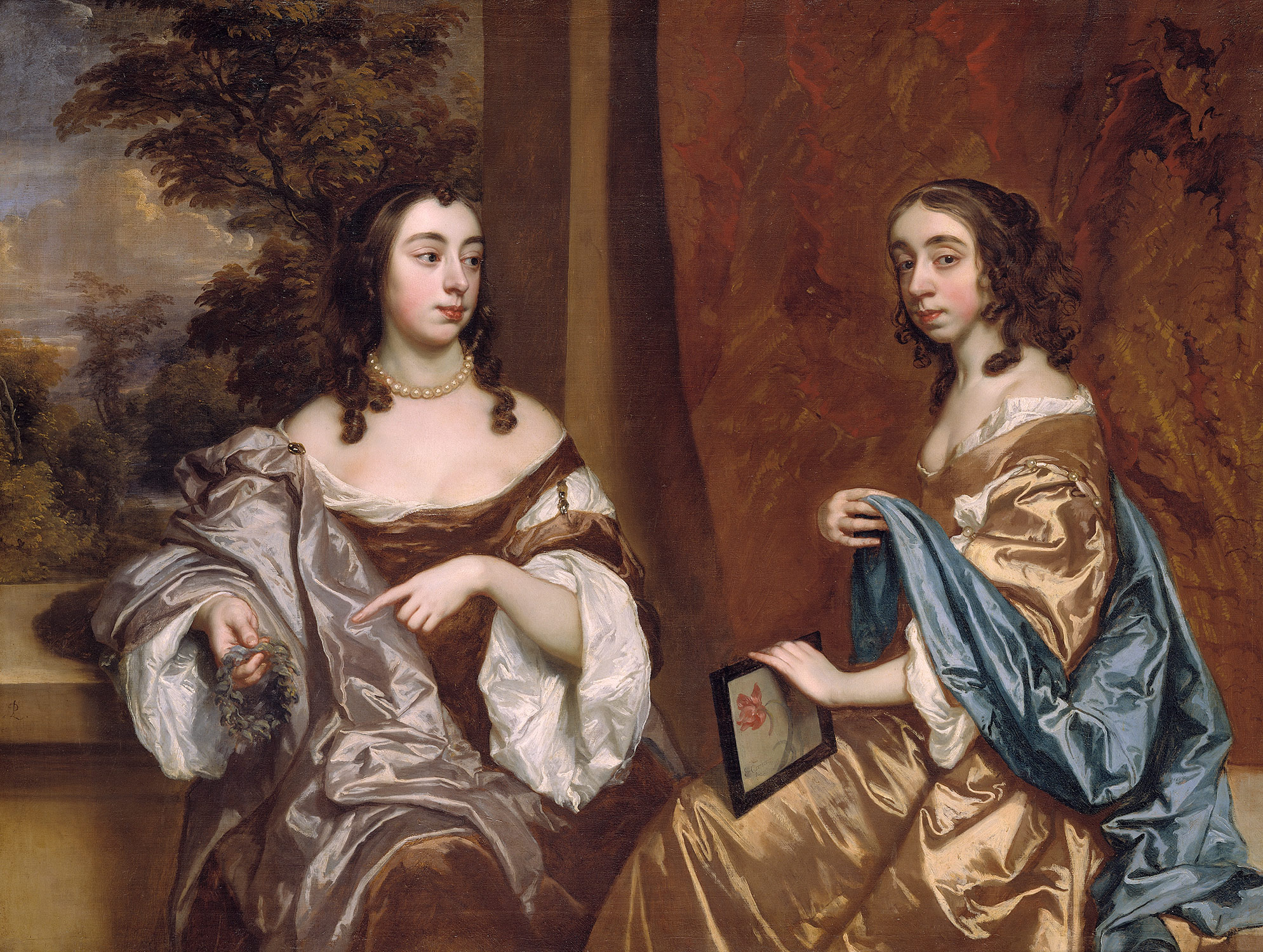 Mary Capel (1630-1715), Later Duchess of Beaufort, and Her Sister Elizabeth (1633-1678), Countess of Carnarvon