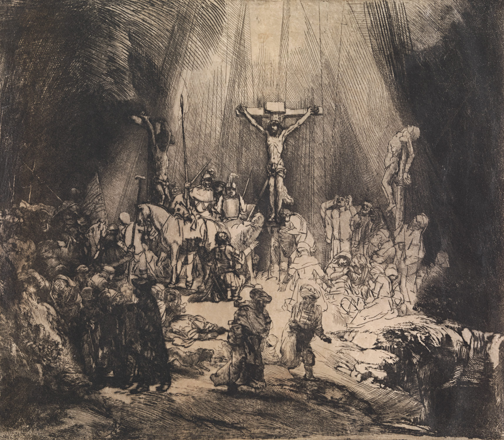 Christ Crucified between the Two Thieves: The Three Crosses