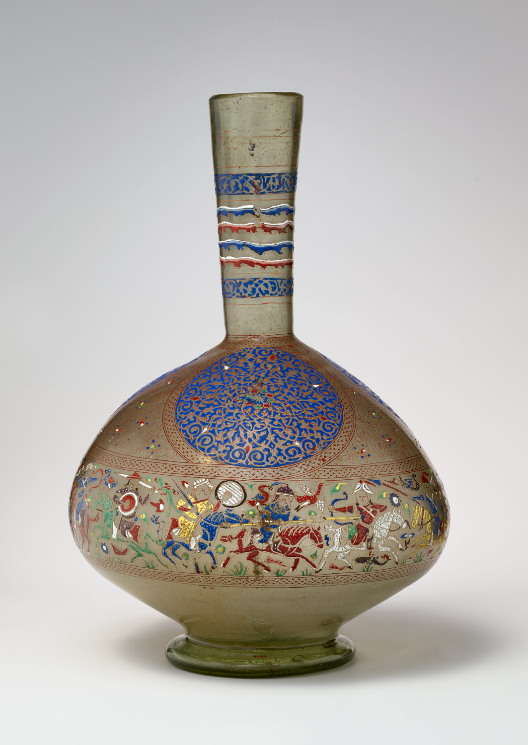 Enameled and Gilded Bottle