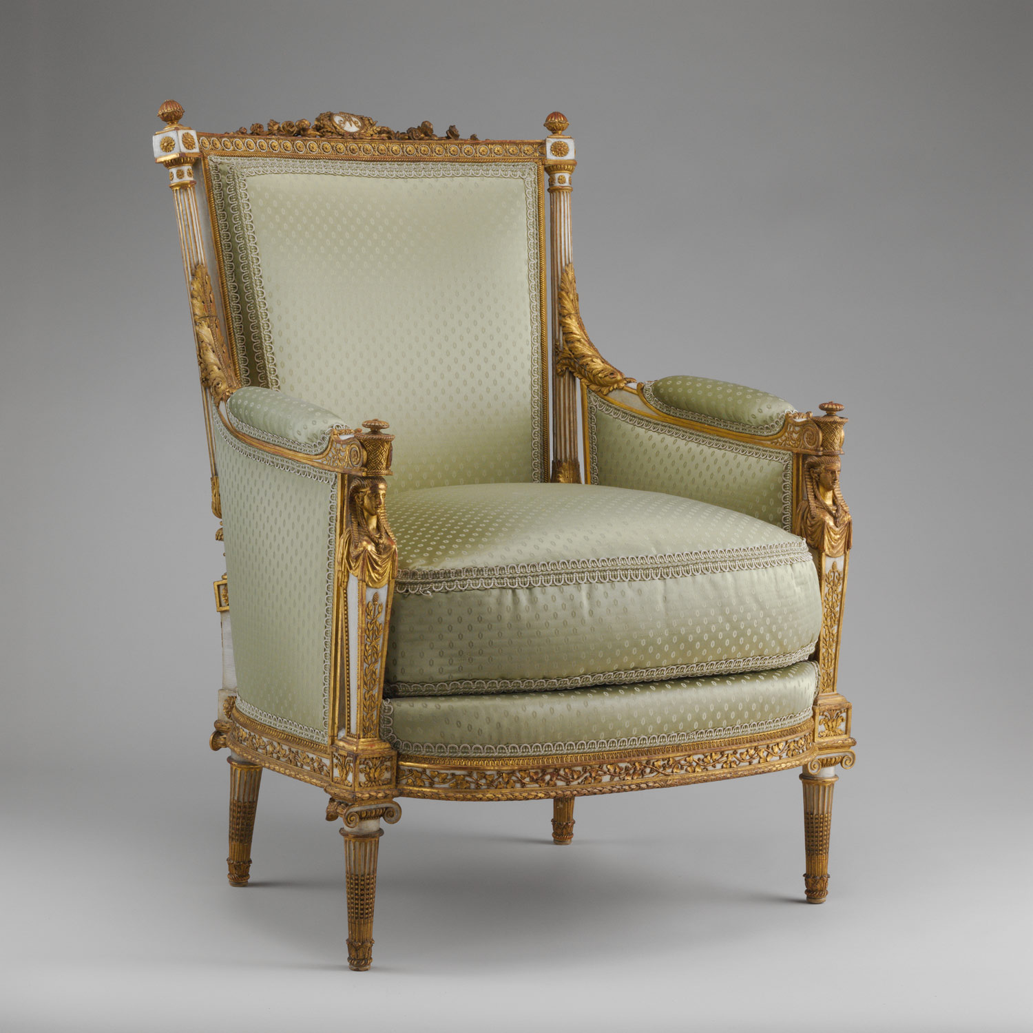 French baroque furniture -  Armchair Berg Re Part Of A Set