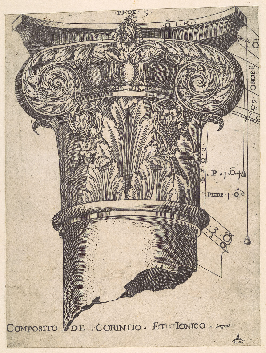 speculum r ae magnificentiae composite of corinthian and ionic  speculum r ae magnificentiae composite of corinthian and ionic