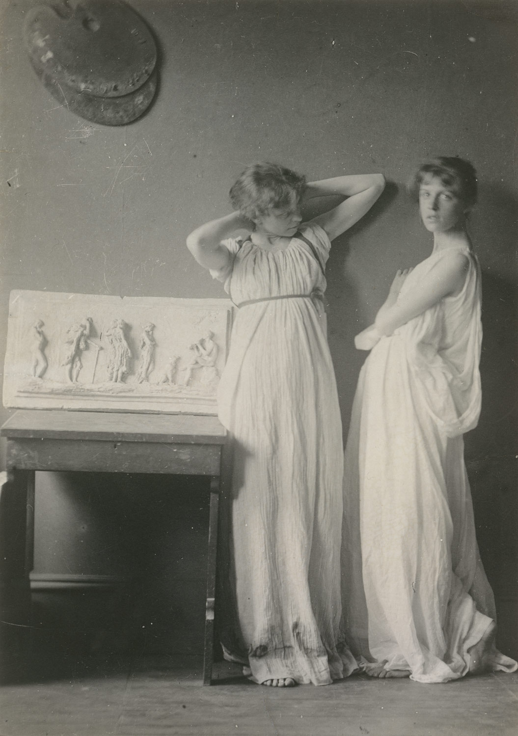[Two Pupils in Greek Dress]