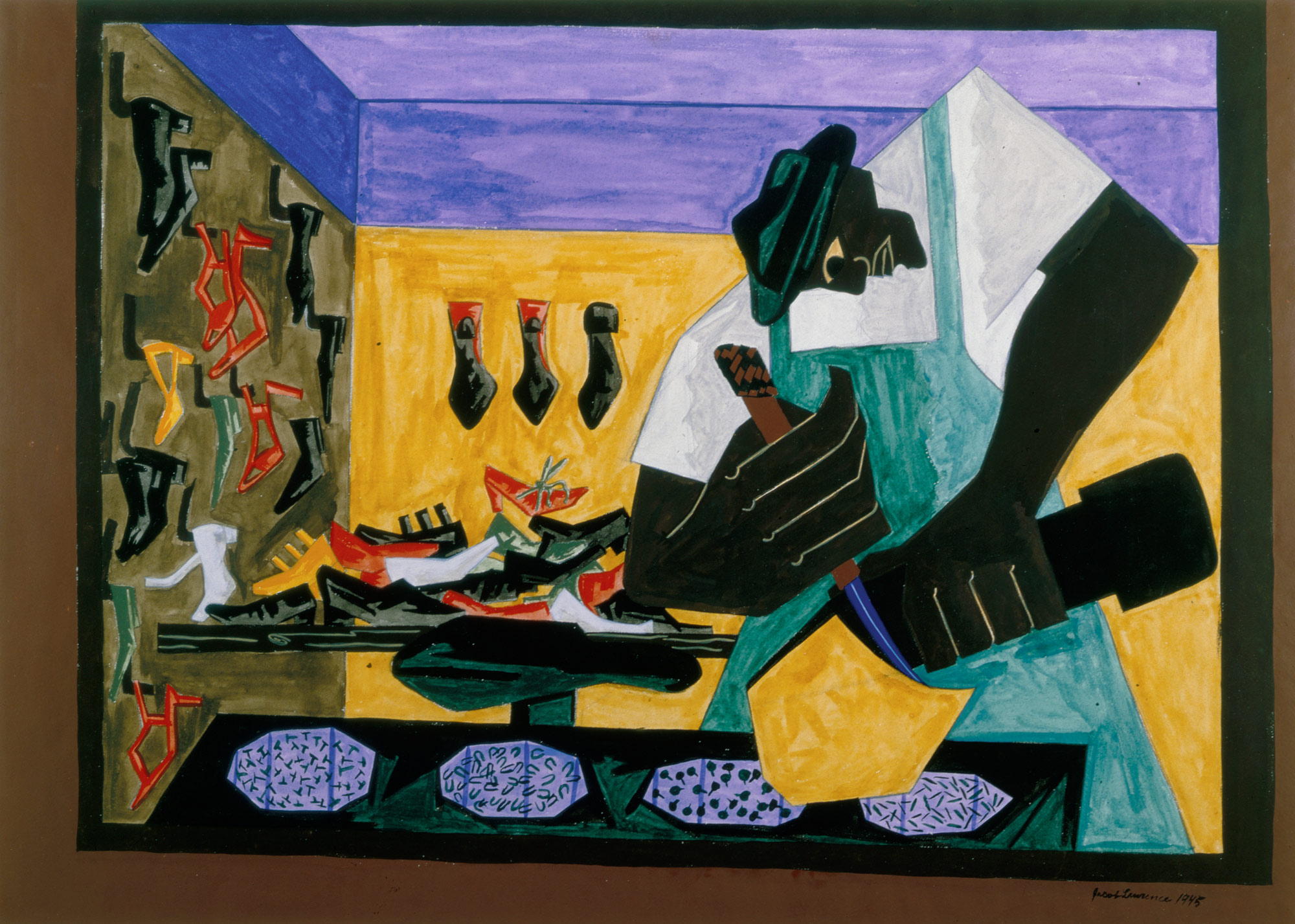 the shoemaker jacob lawrence work of art heilbrunn  artist maker
