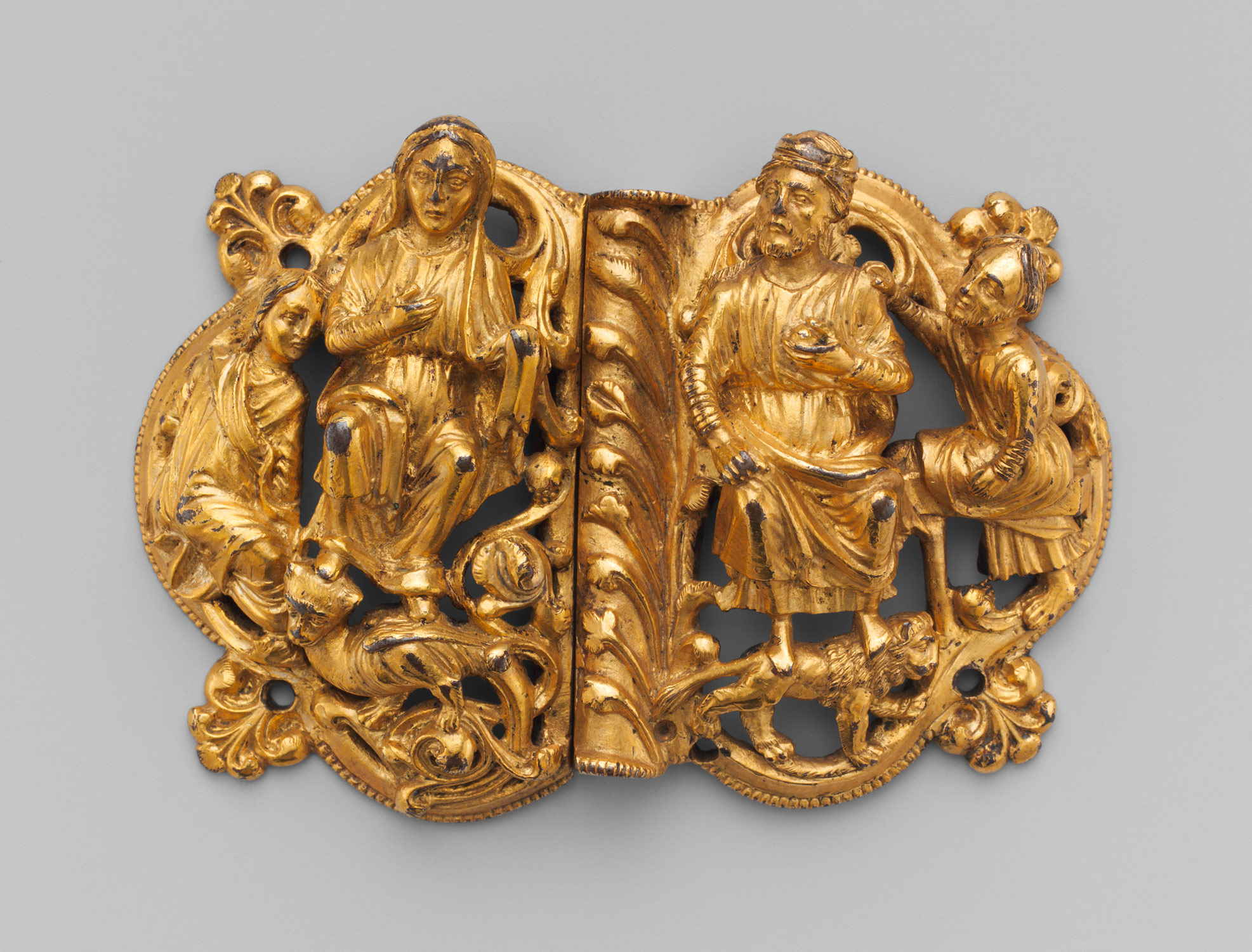 Buckle with Seated Couple
