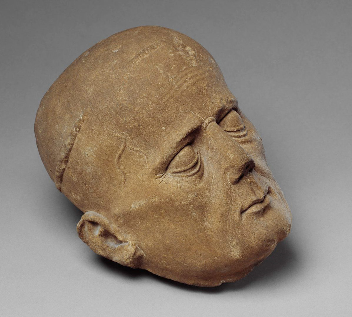 Head of a Cleric from a Tomb Effigy