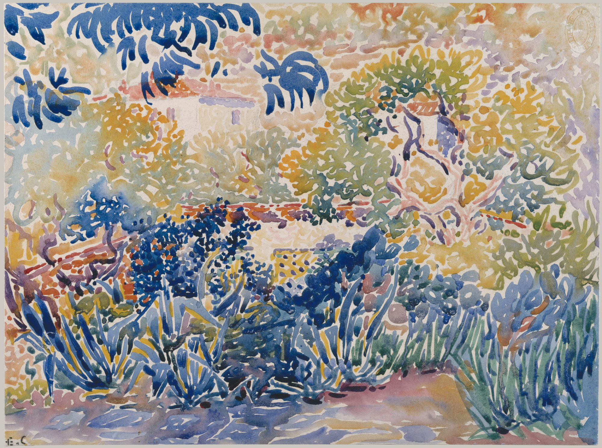 the artist s garden at saint clair henri edmond cross  the artists garden at saint clair