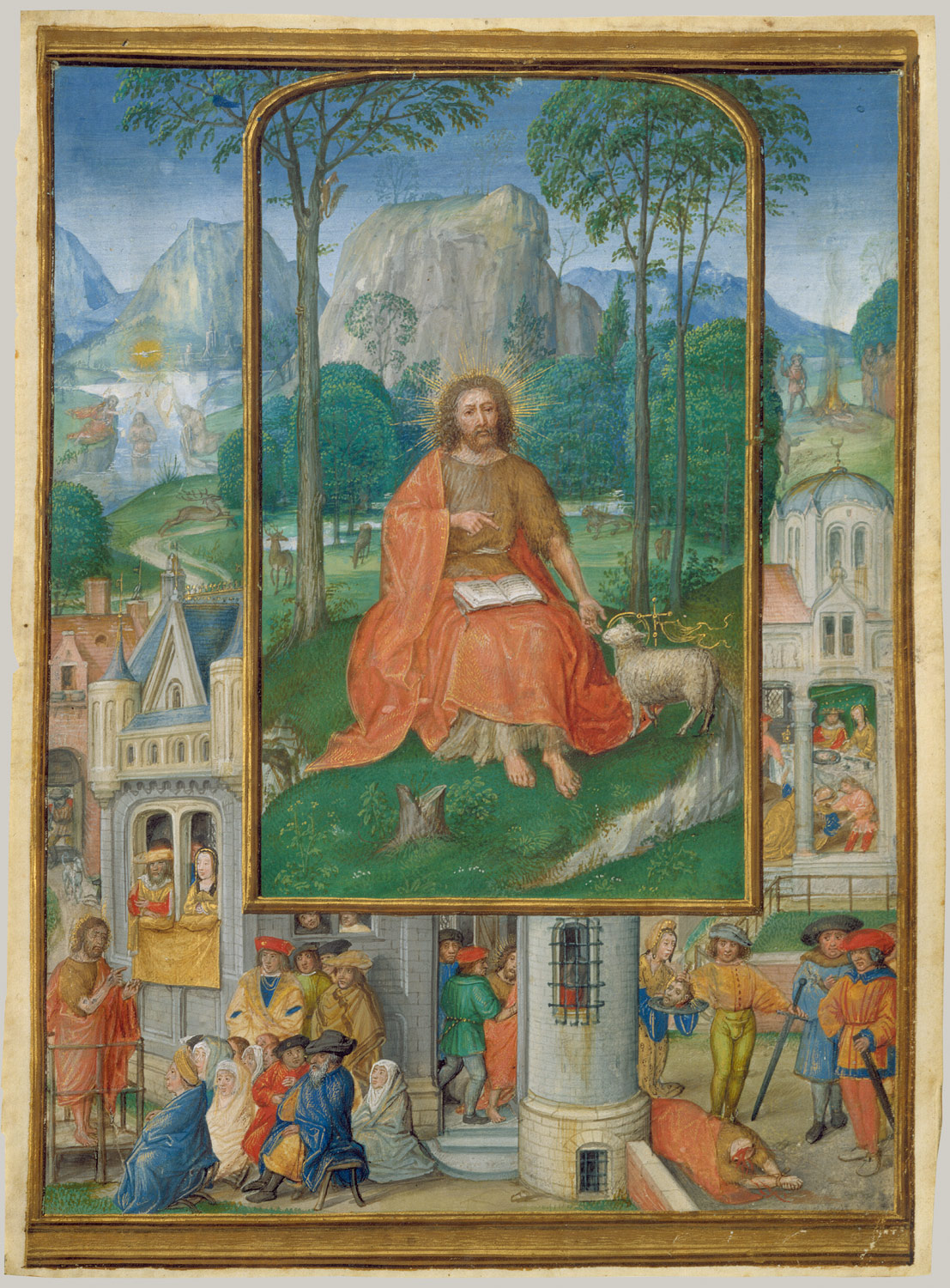 Manuscript Illumination with Scenes from the Life of Saint John the Baptist