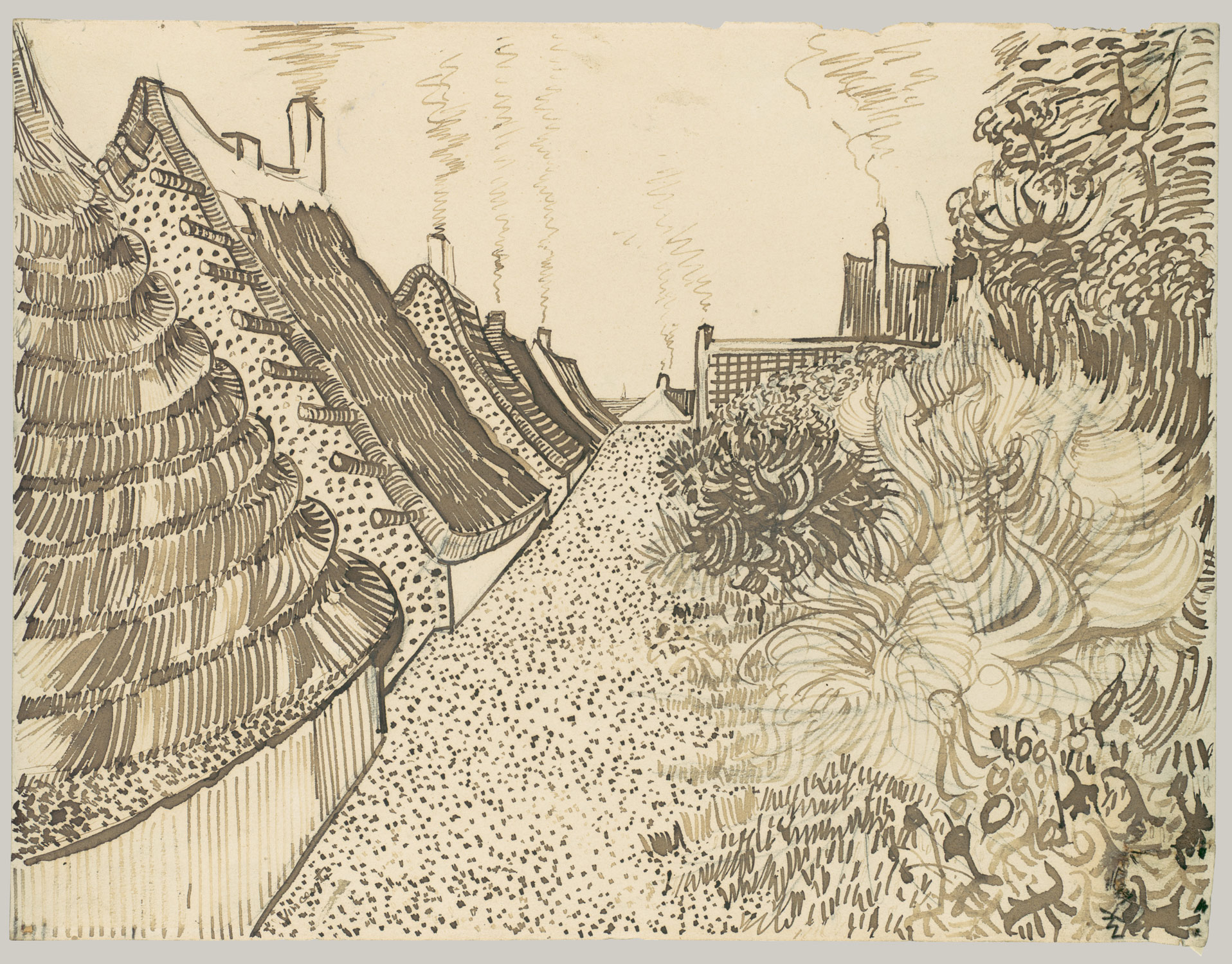 vincent van gogh 1853 1890 the drawings essay heilbrunn street in saintes maries de la mer