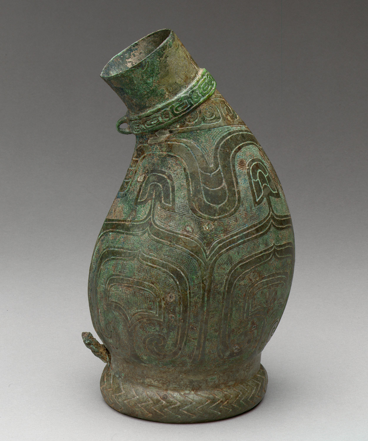 Asymmetrical Ritual Wine Container (Hu)