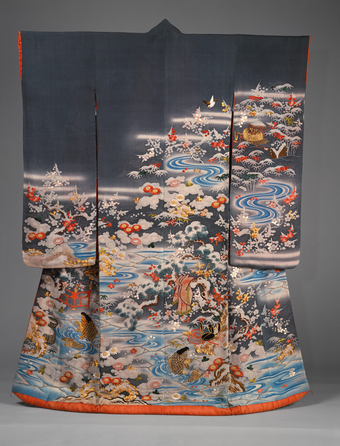 Outer Robe (Uchikake) with Scenes of Filial Piety