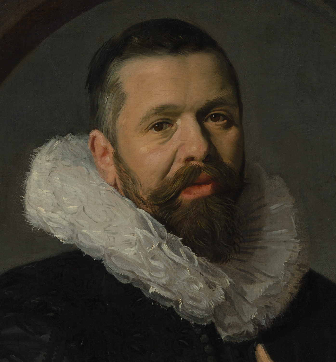 portrait of a bearded man with a ruff frans hals 49 7 34 work