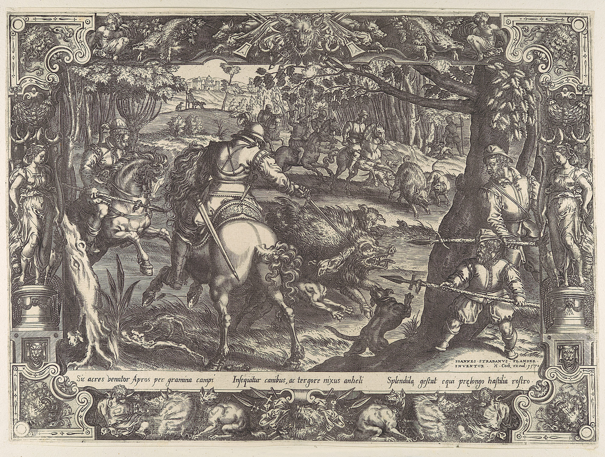 Wild Boar Hunt with Spears