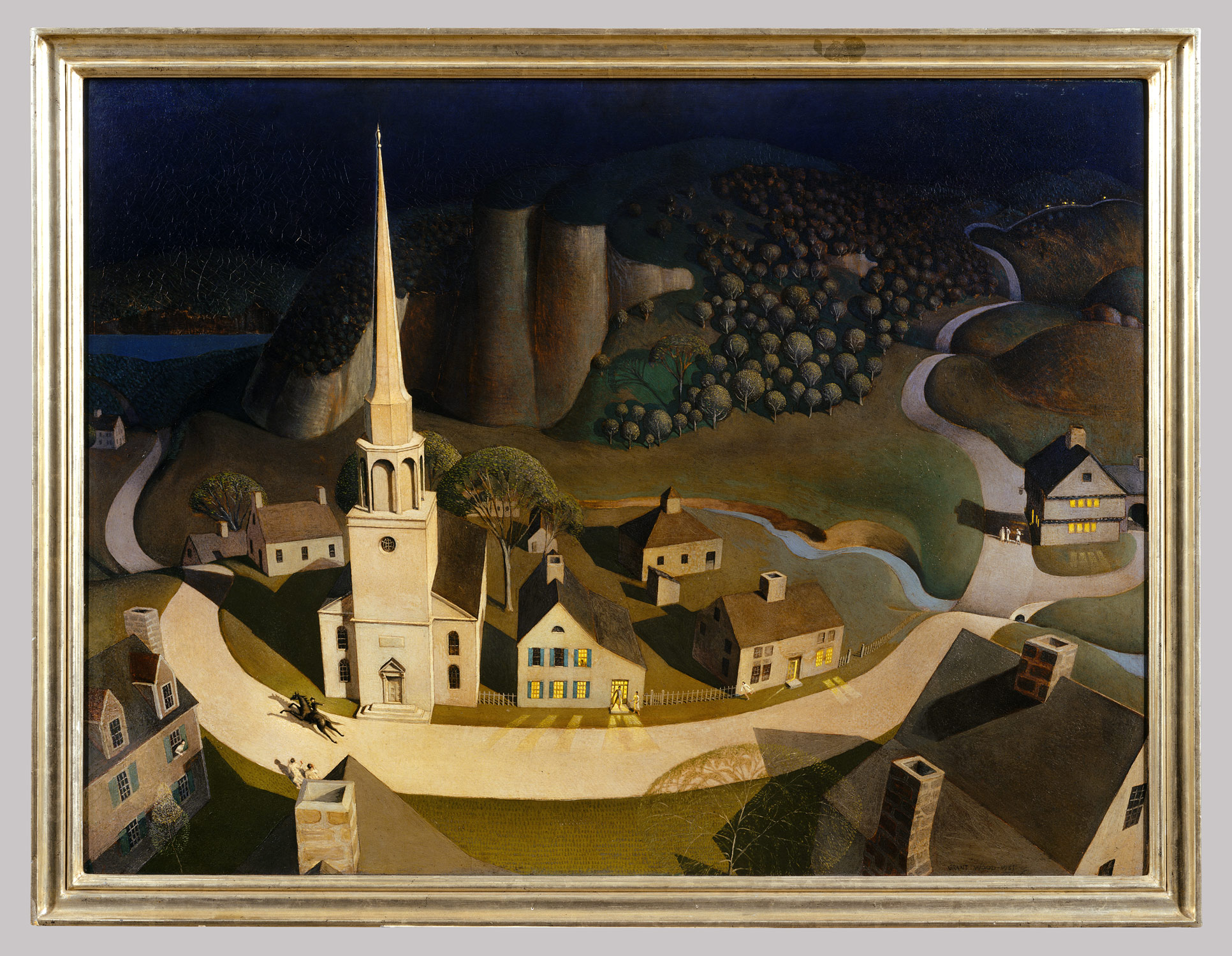 the midnight ride of paul revere grant wood work of the midnight ride of paul revere