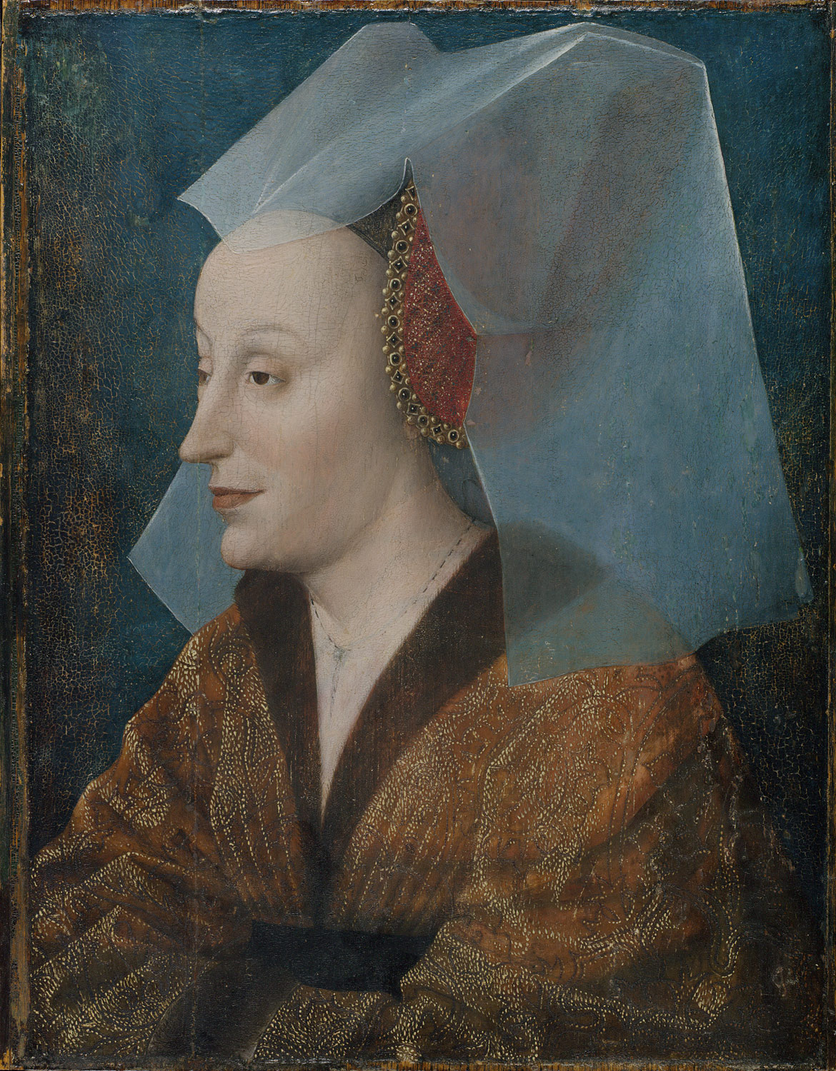 Captions; Portrait of a Noblewoman, Probably Isabella of Portugal (1397 –1472)