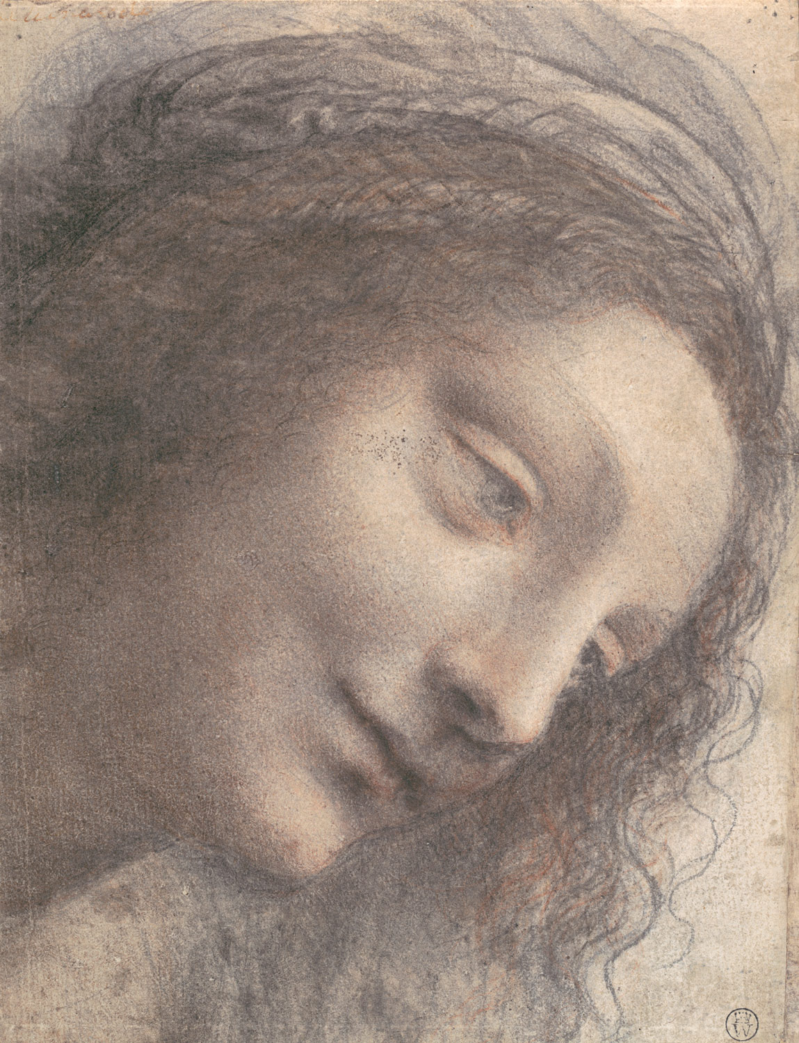 Head of the Virgin in Three-Quarter View Facing Right