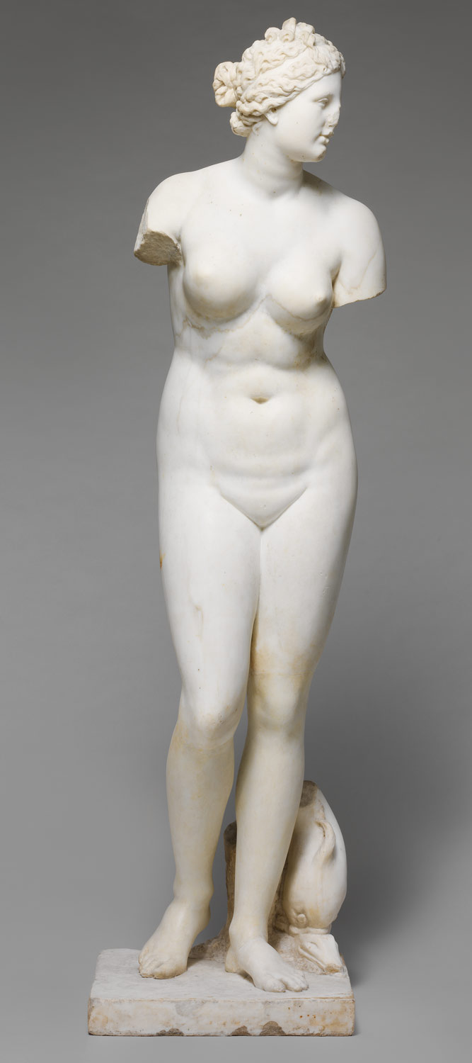 Marble statue of Aphrodite