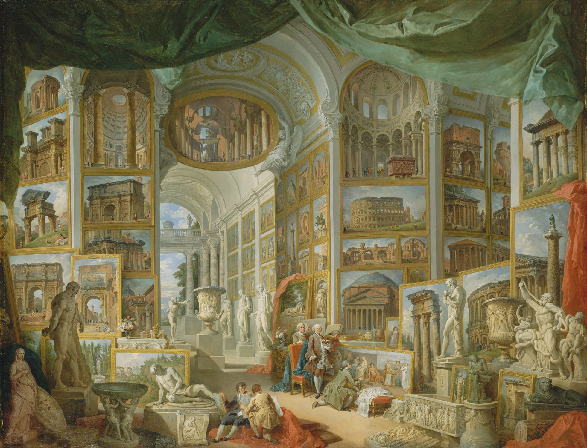 ancient rome giovanni paolo panini work of art  ancient rome