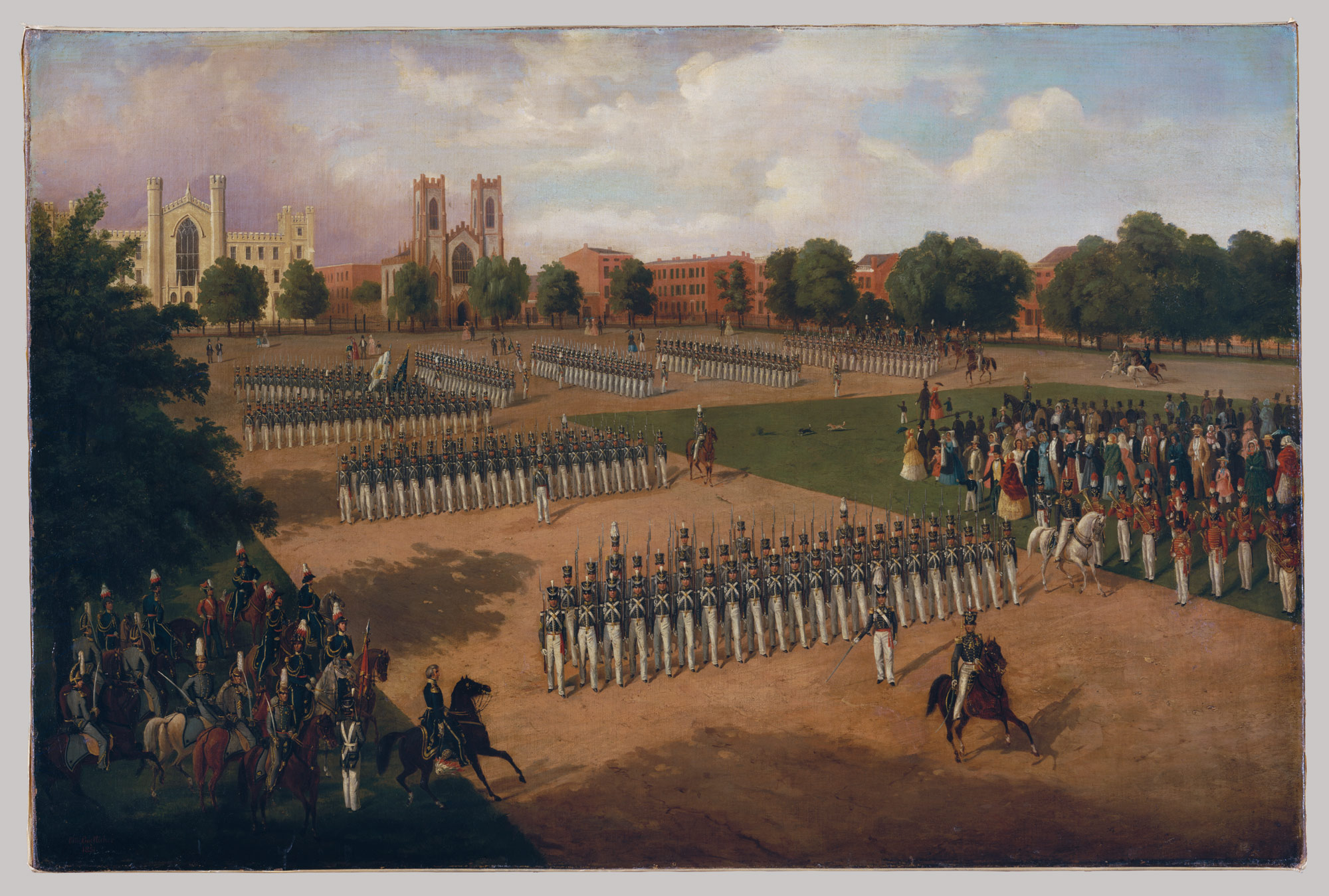 Seventh Regiment on Review, Washington Square, New York