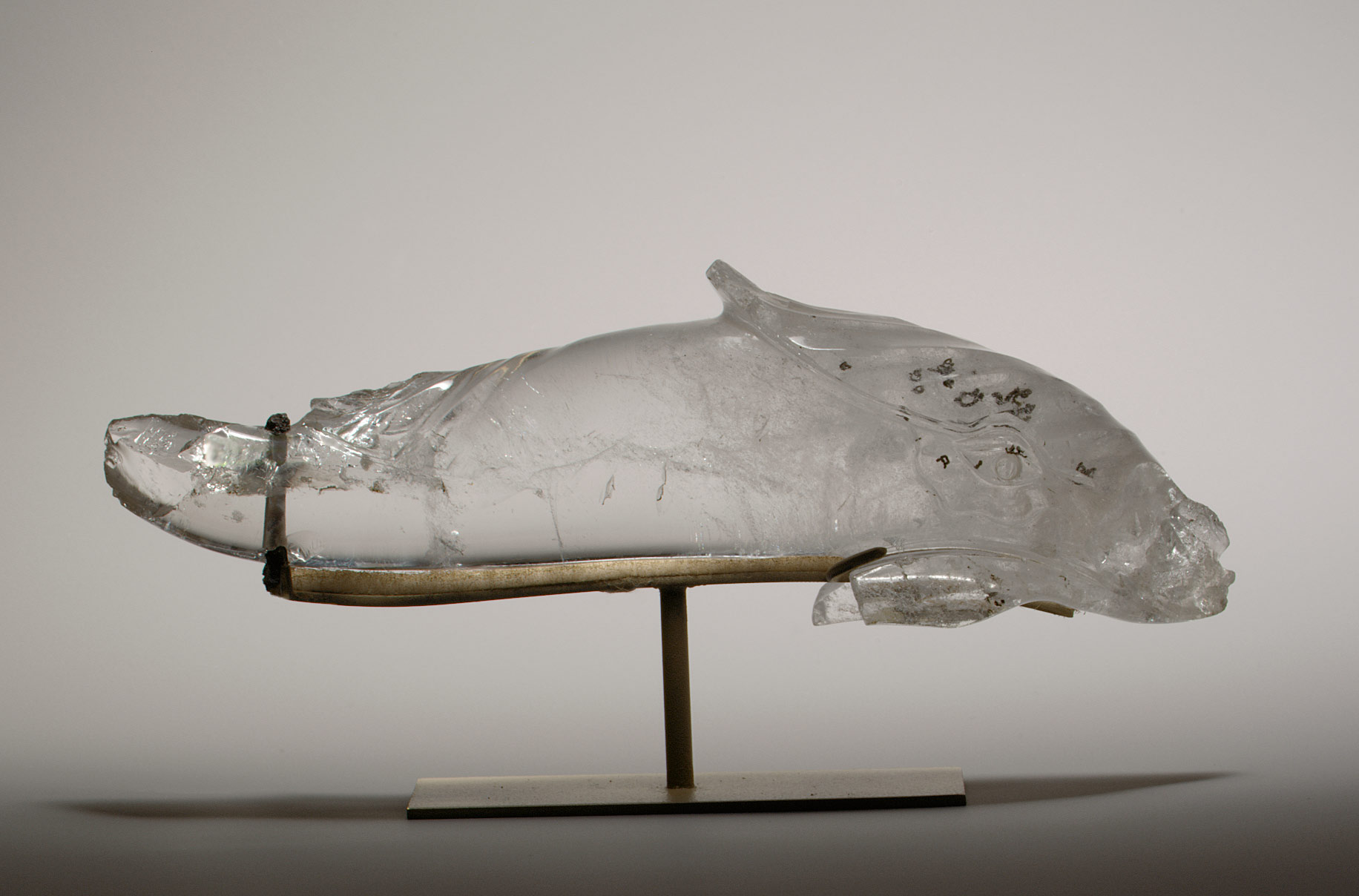 Rock Crystal Statuette of a Dolphin