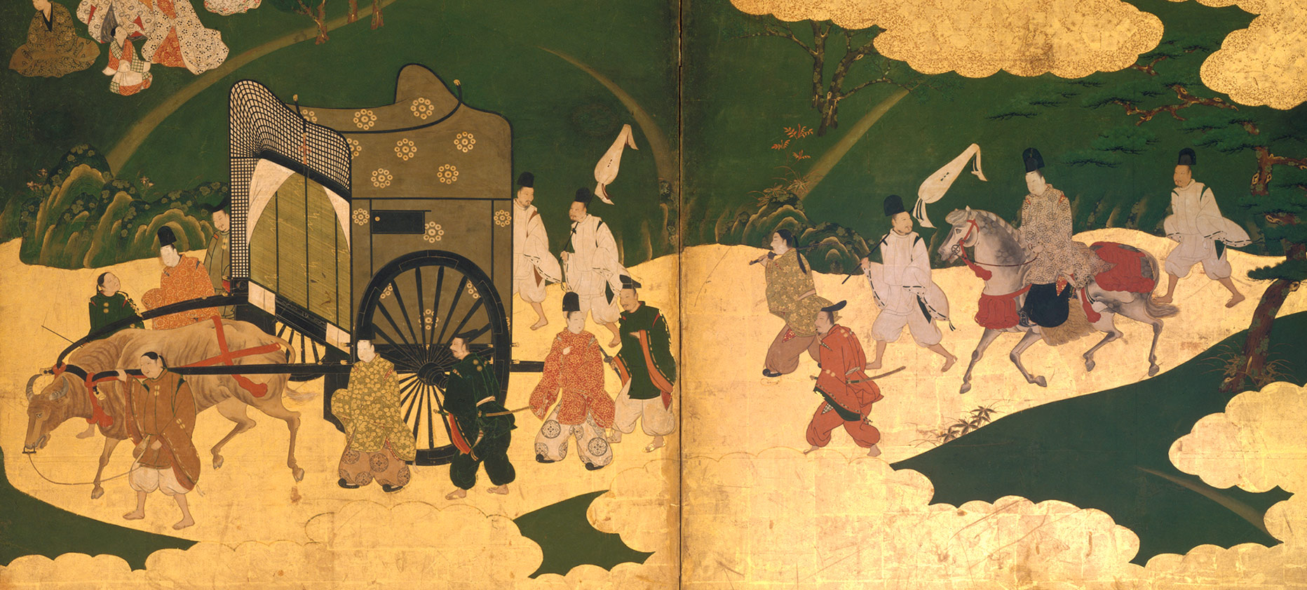 "Scenes from The Tale of Genji: ""The Royal Outing,"" ""Ukifune,"" and ""The Gatehouse"""