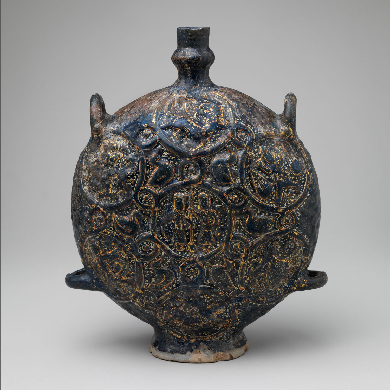 Flask with Zodiac medallions