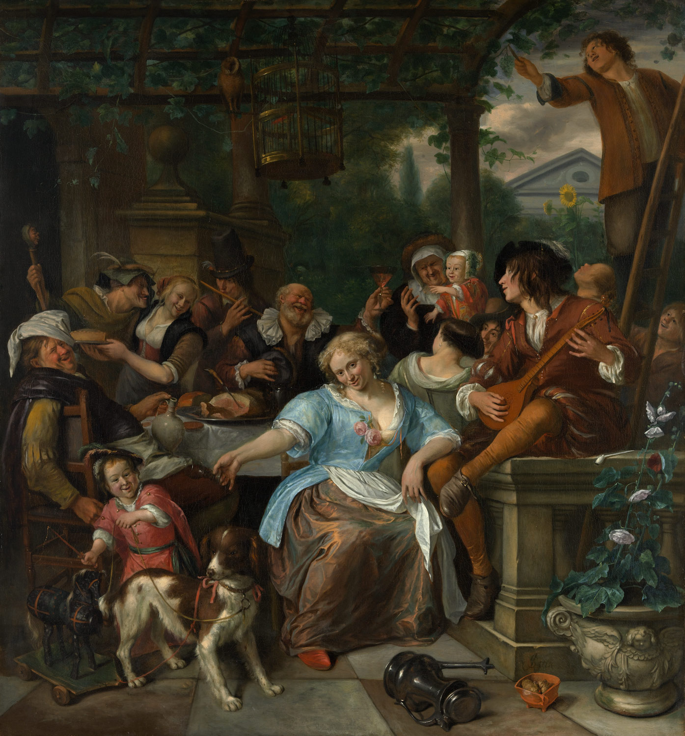 Merry Company on a Terrace