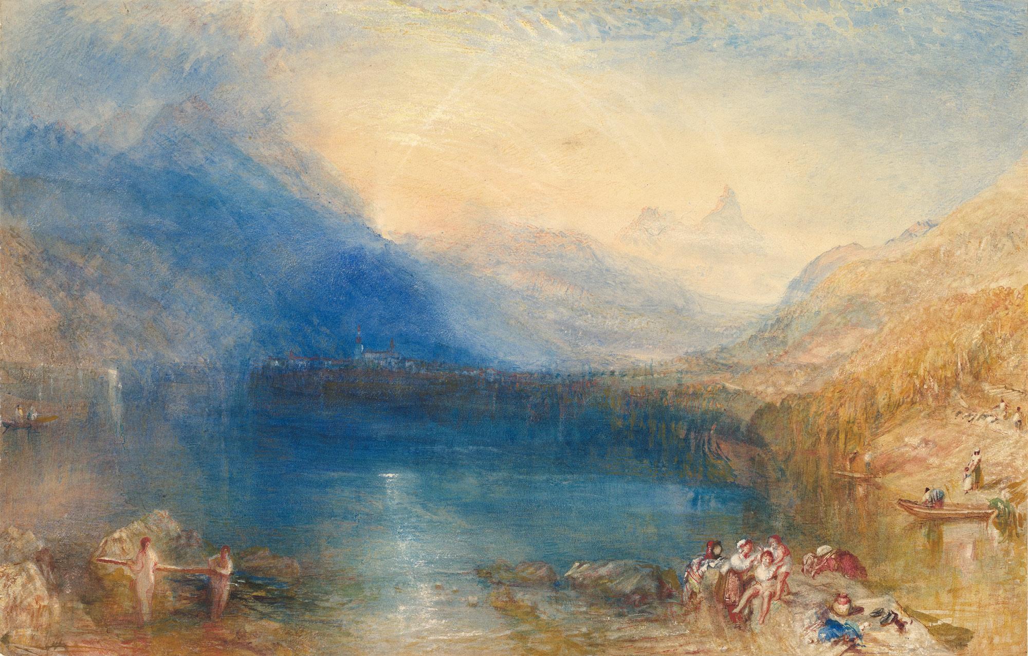 Watercolor art history - The Lake Of Zug