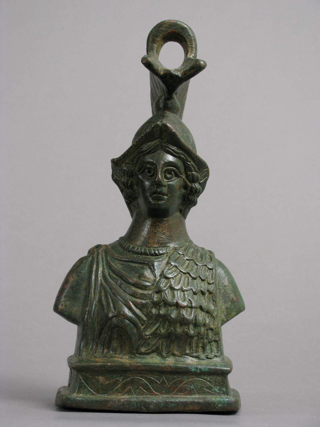 Steelyard Weight with the Bust of Athena